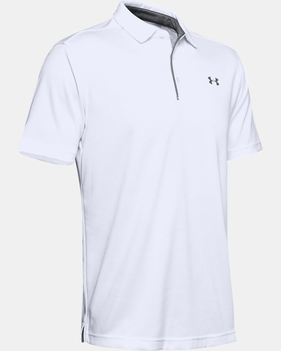 Men's UA Tech Polo, White, pdpMainDesktop image number 7