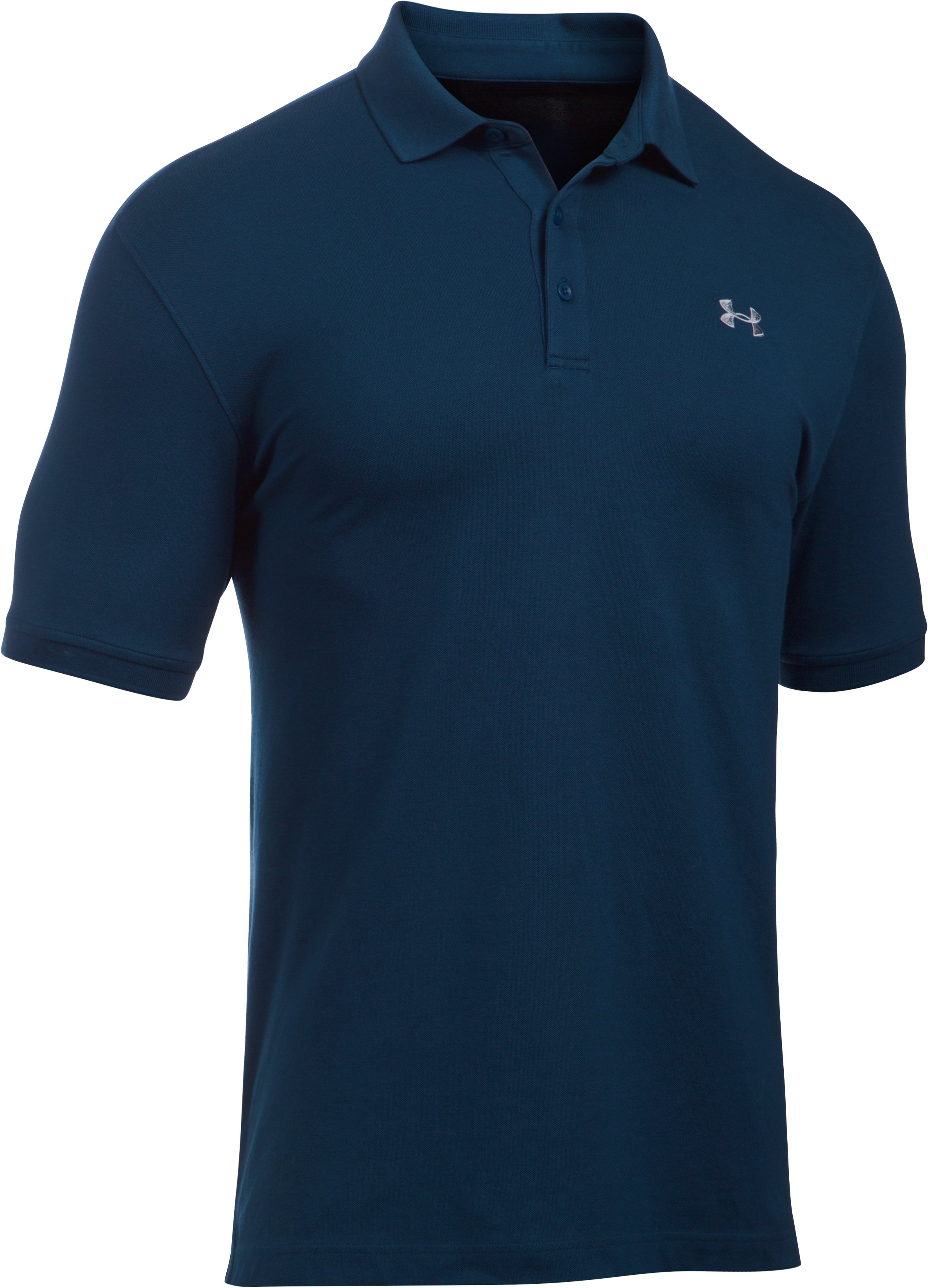 Men's UA Performance Cotton Polo, Academy, undefined