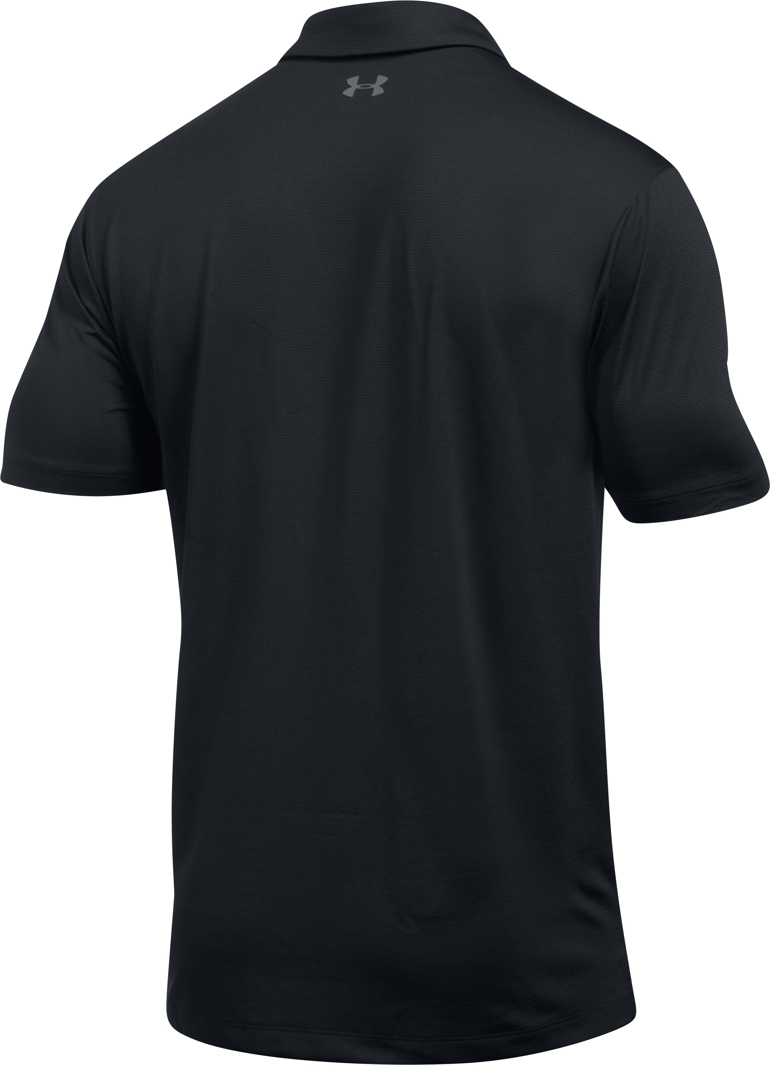 Men's UA CoolSwitch Microthread Polo, Black , undefined