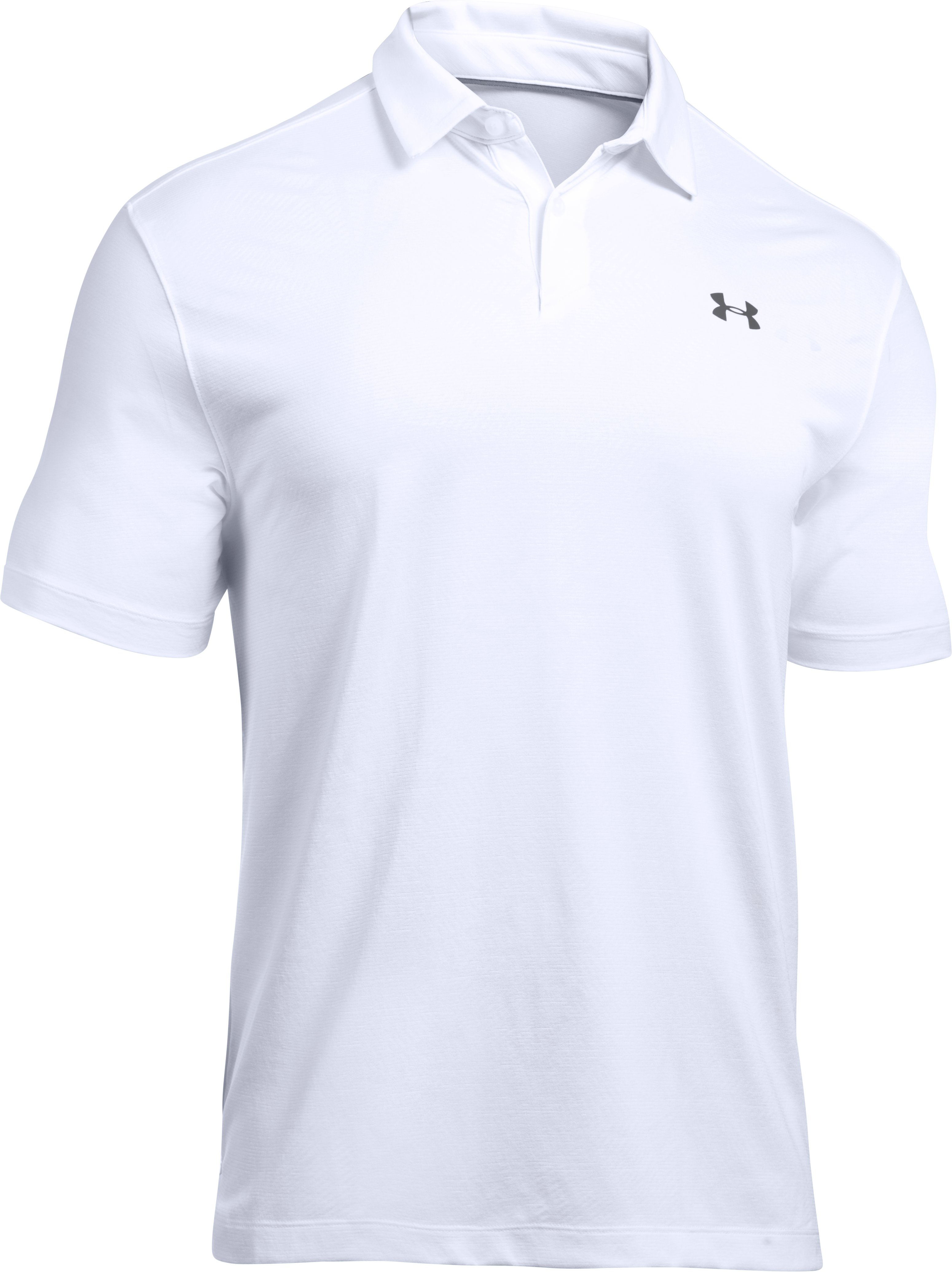 Men's UA CoolSwitch Microthread Polo, White,