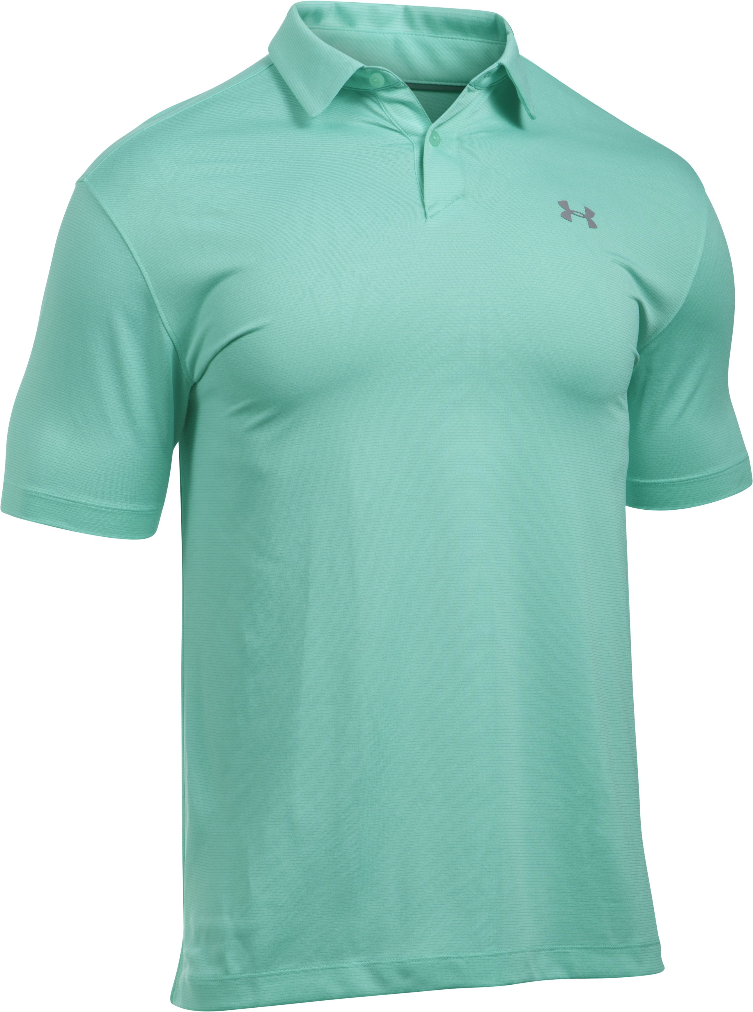 Men's UA CoolSwitch Microthread Polo, MINT,