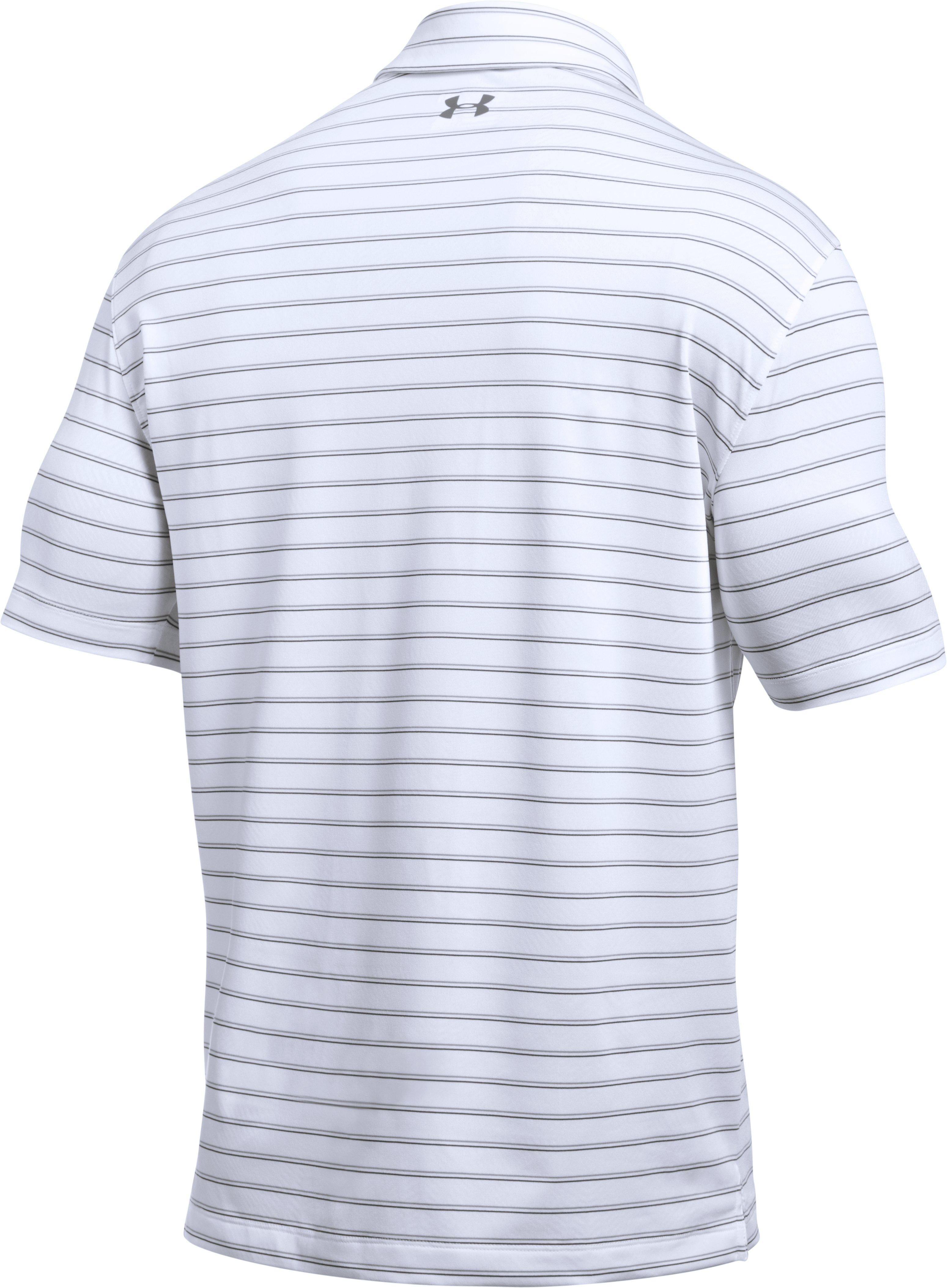 Men's UA CoolSwitch Putting Stripe Polo, White, undefined