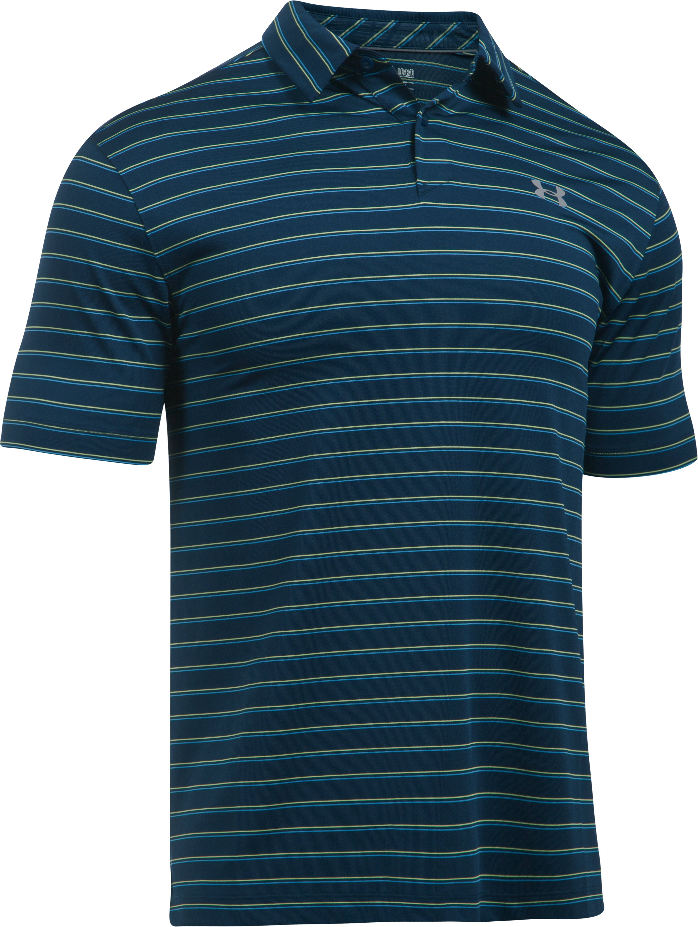 Men's UA CoolSwitch Putting Stripe Polo, Academy