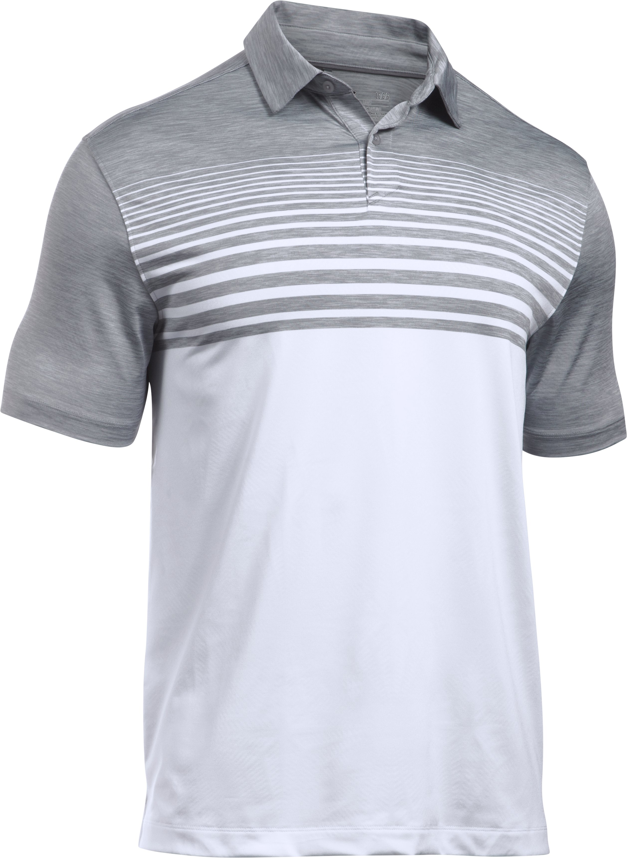 Men's UA CoolSwitch Upright Polo, Steel,