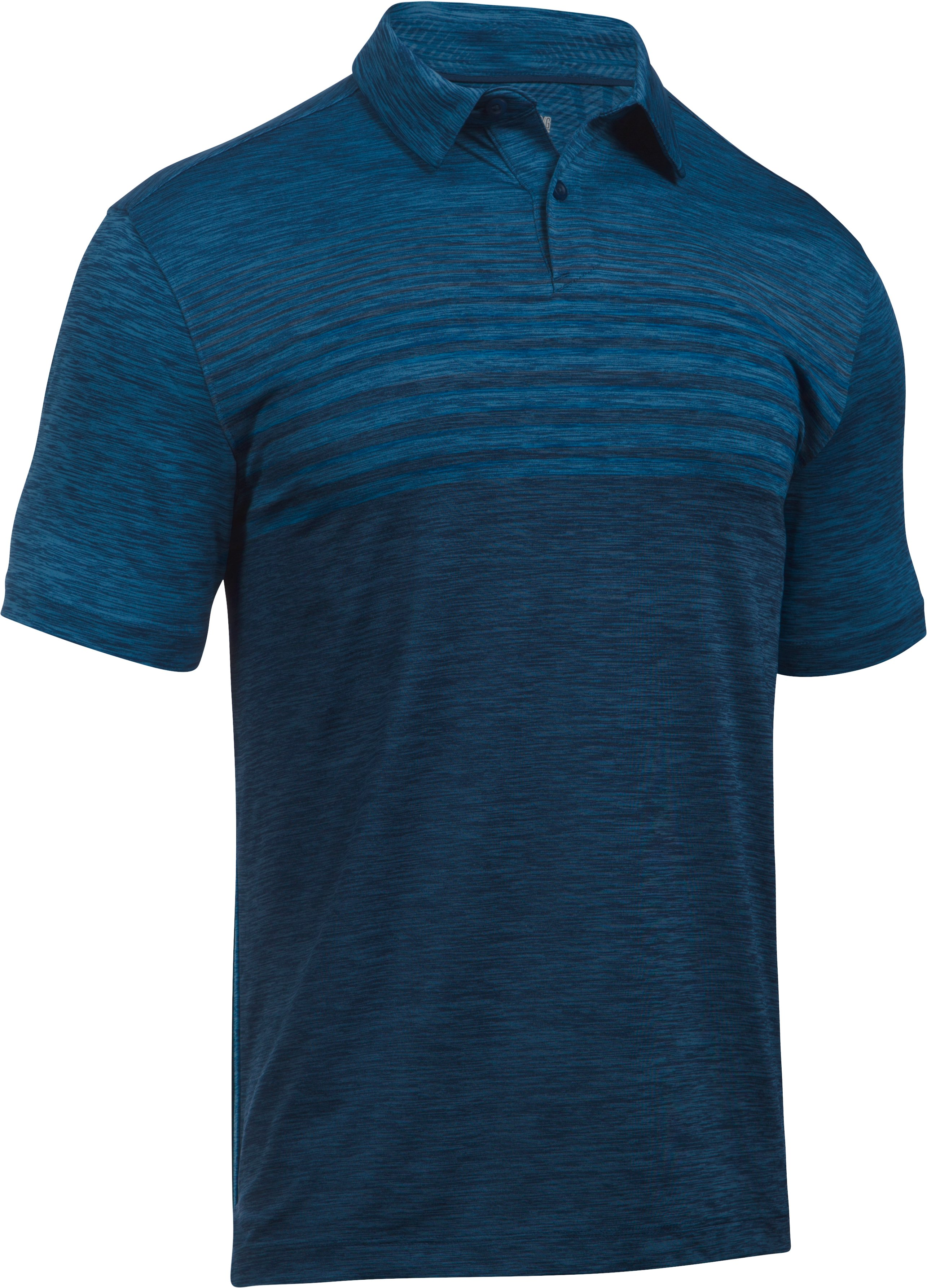Men's UA CoolSwitch Upright Polo, BLACKOUT NAVY,
