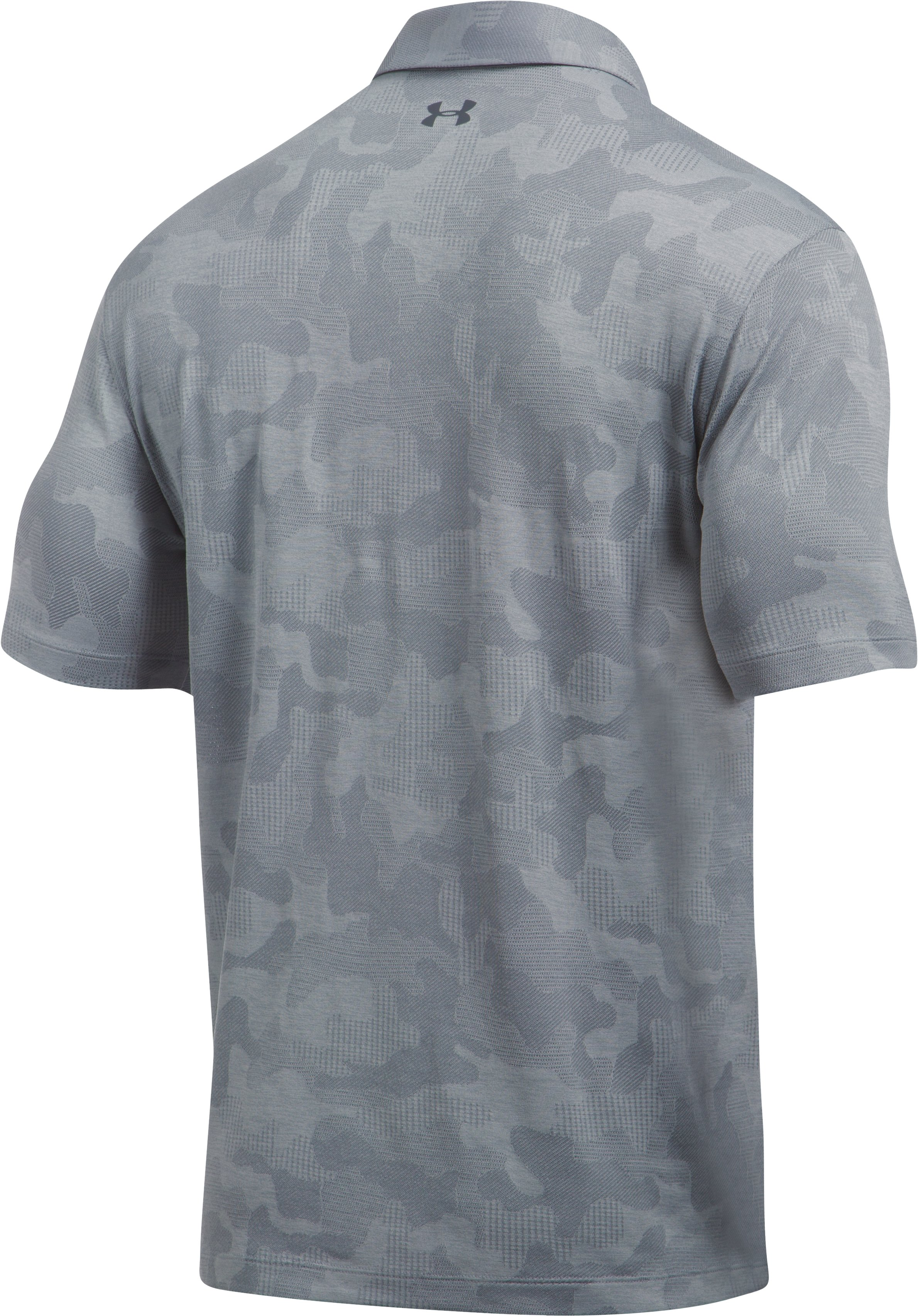 Men's UA Threadborne Camo Polo, Steel,