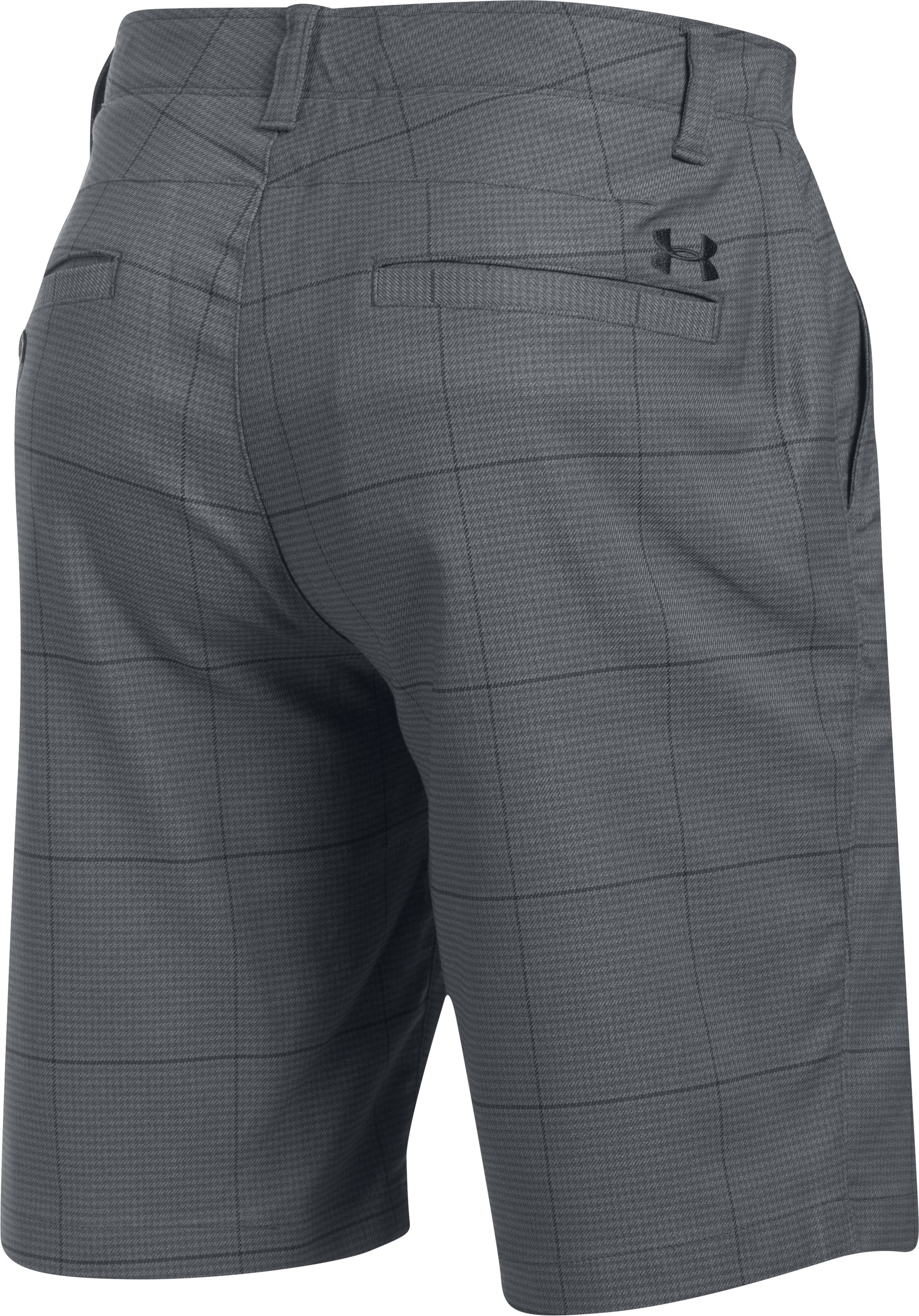Men's UA Match Play Textured Shorts, Black , undefined