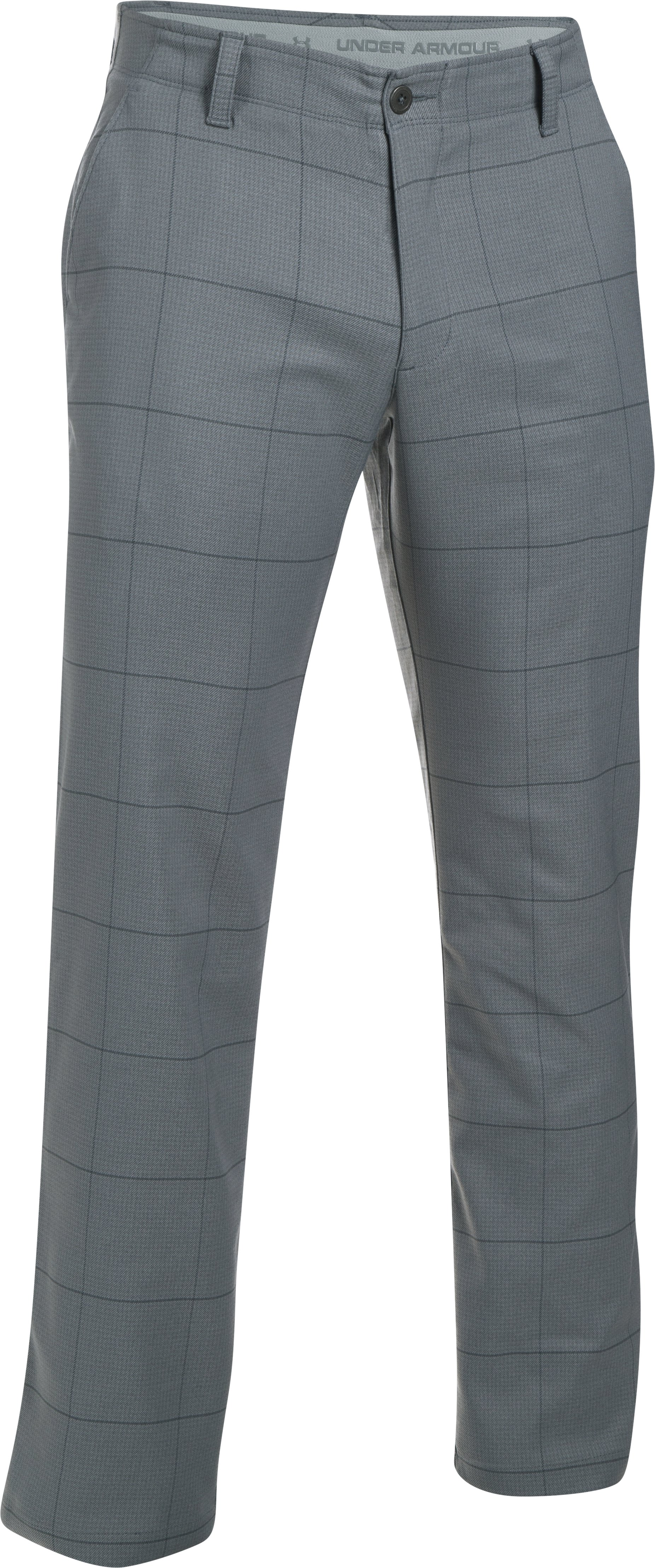 Men's UA Match Play Textured Pants, RHINO GRAY, undefined