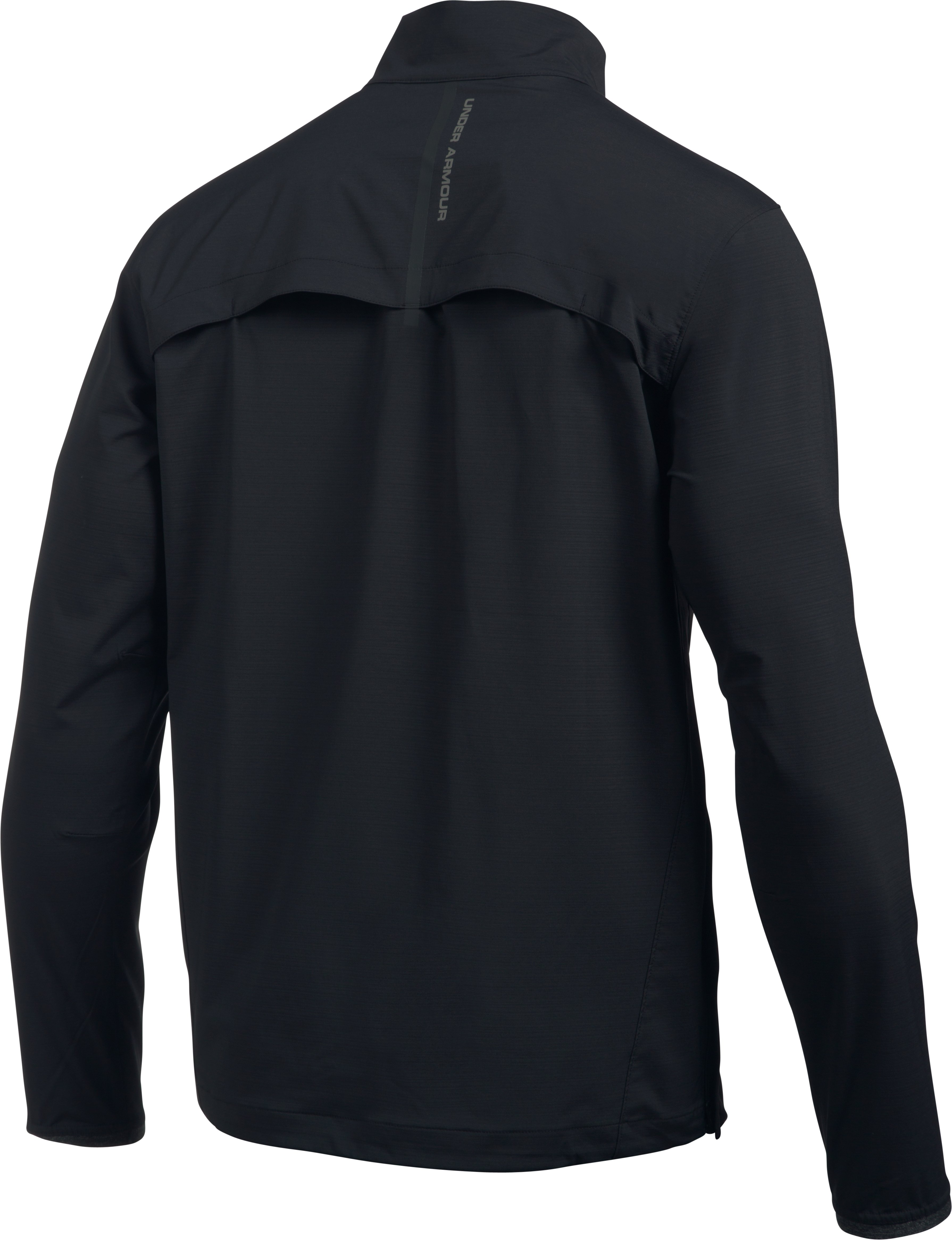 Men's UA Windstrike ½ Zip, Black , undefined