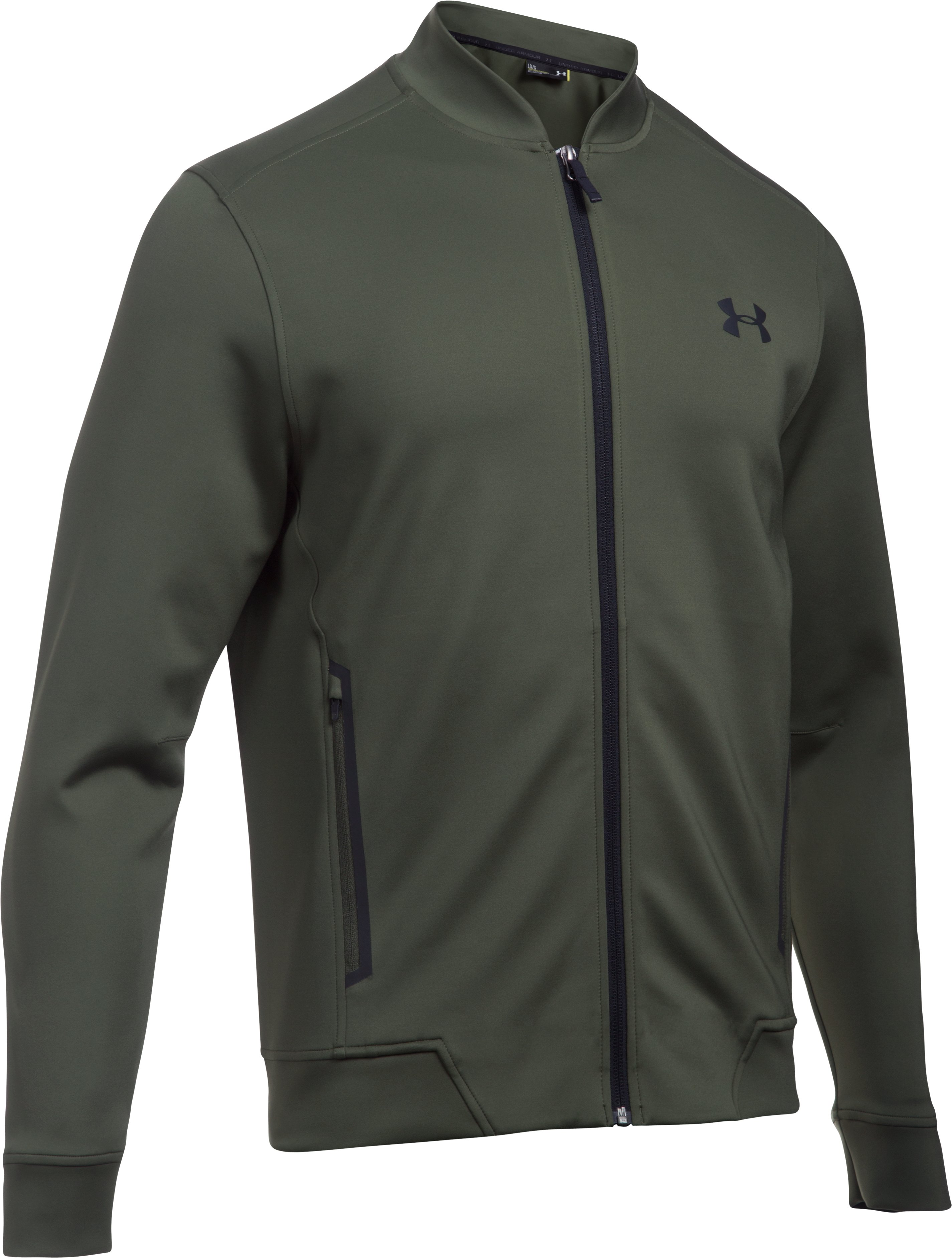 Men's UA Elevated Bomber, DOWNTOWN GREEN, undefined