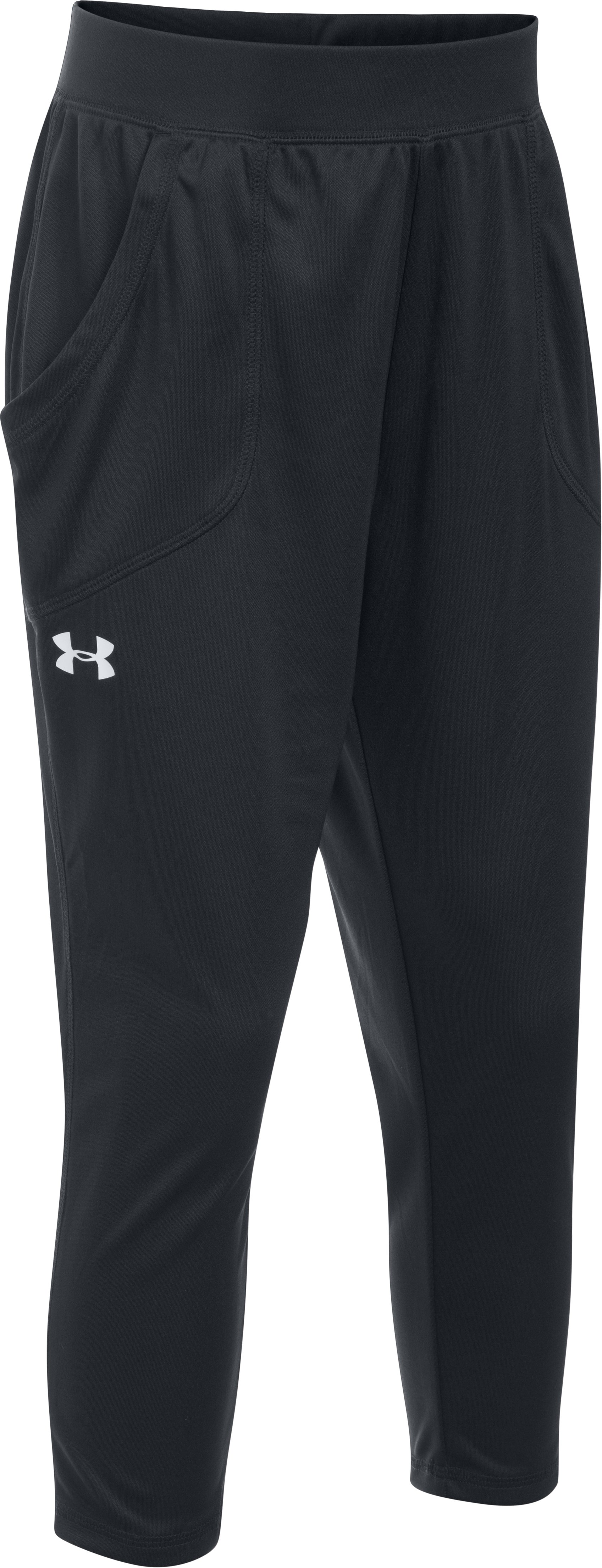 Girls' UA Tech™ Capris, Black ,