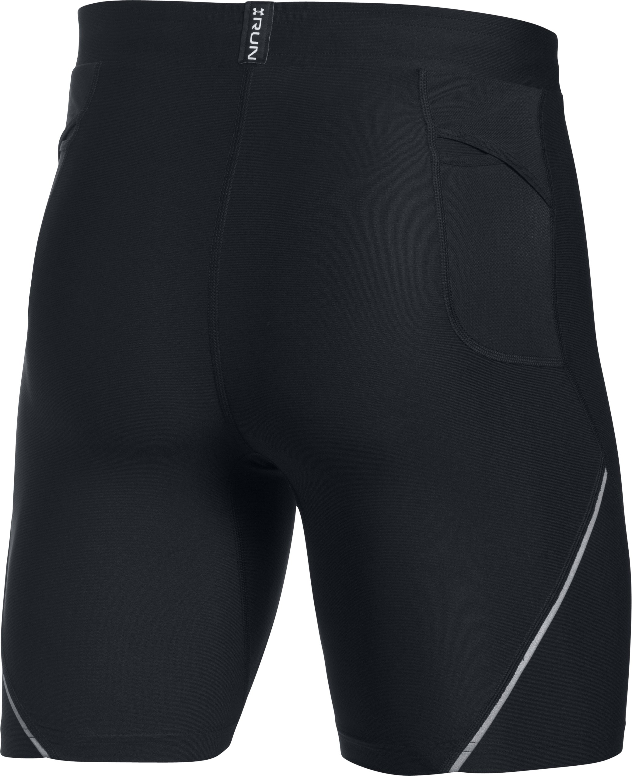 Men's UA Run True Half Tight, Black , undefined