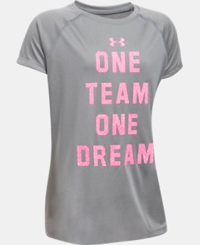 New to Outlet Girls' UA One Team T-Shirt  1 Color $14.99