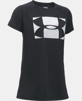 Girls' UA Big Logo T-Shirt  1 Color $17.99