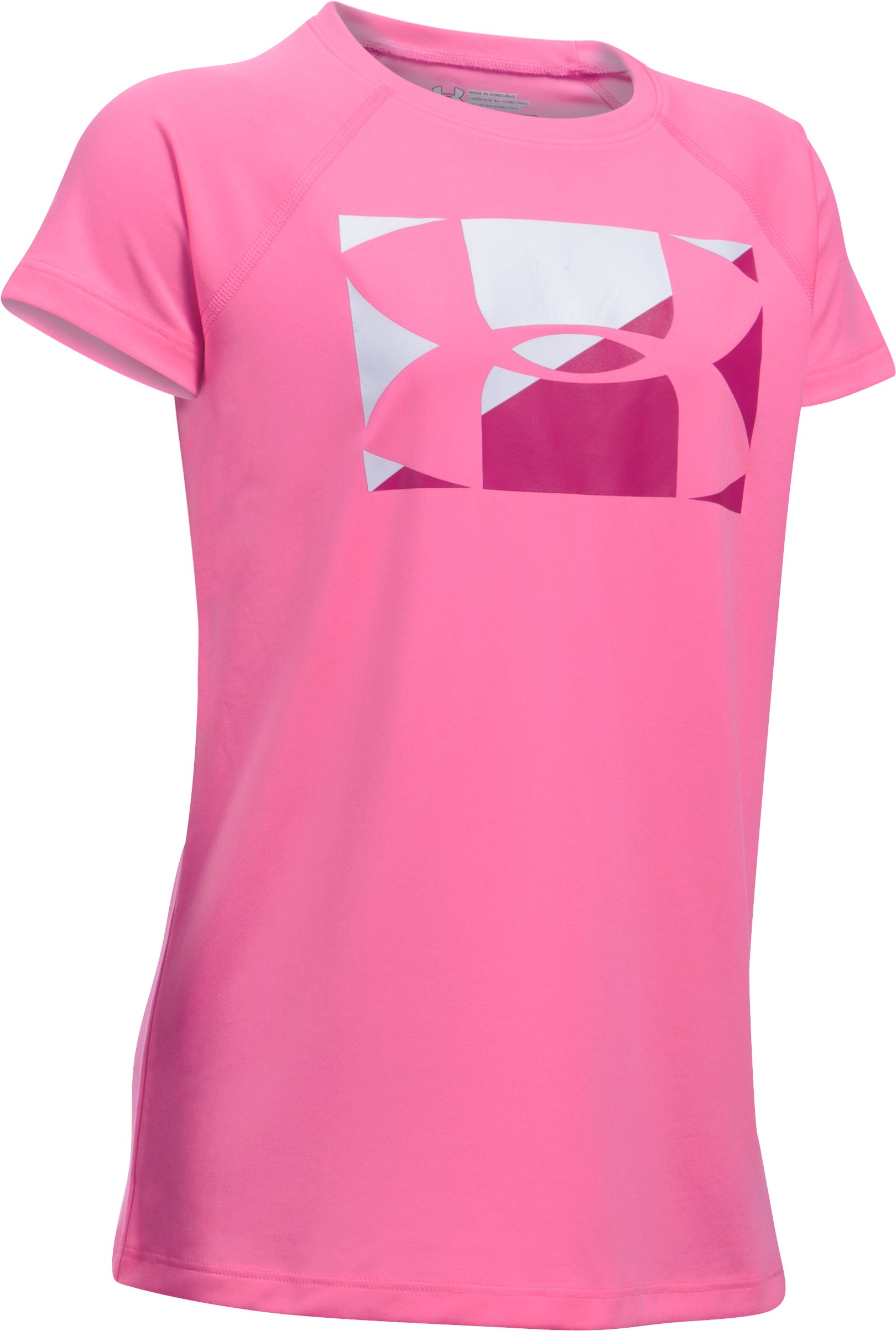 Girls' UA Big Logo T-Shirt, PINK PUNK, undefined