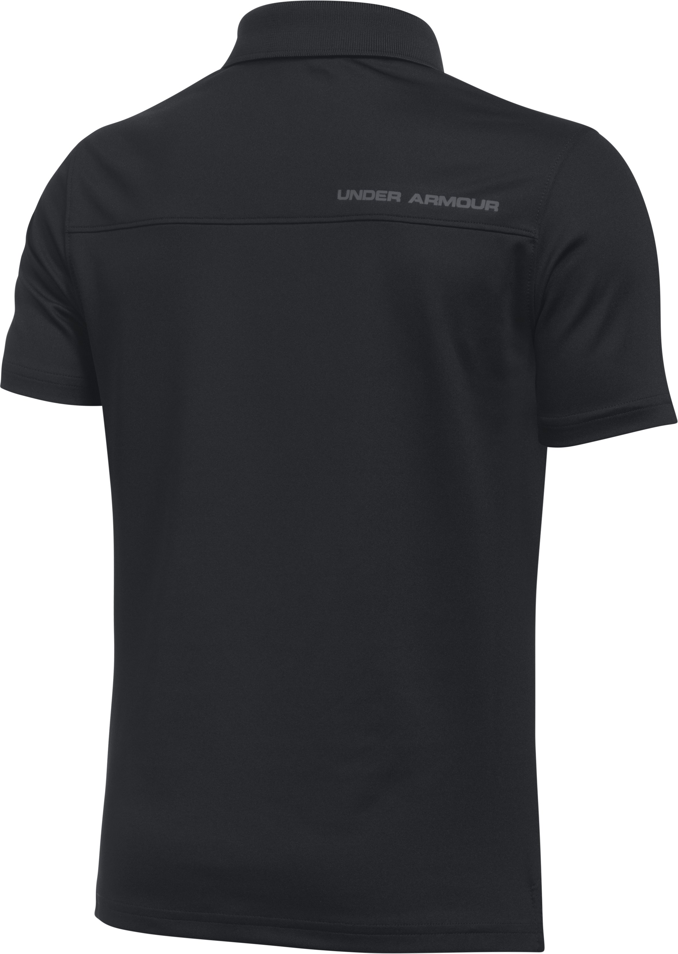 Boys' UA Performance Polo, Black ,