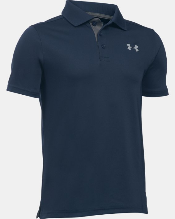 Boys' UA Performance Polo, Navy, pdpMainDesktop image number 0