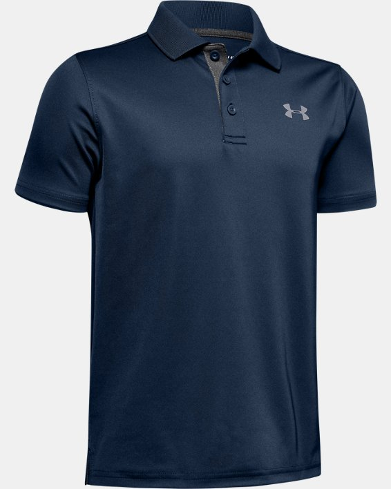 Boys' UA Performance Polo, Navy, pdpMainDesktop image number 1