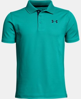 Boys' UA Performance Polo FREE U.S. SHIPPING 10  Colors Available $29.99