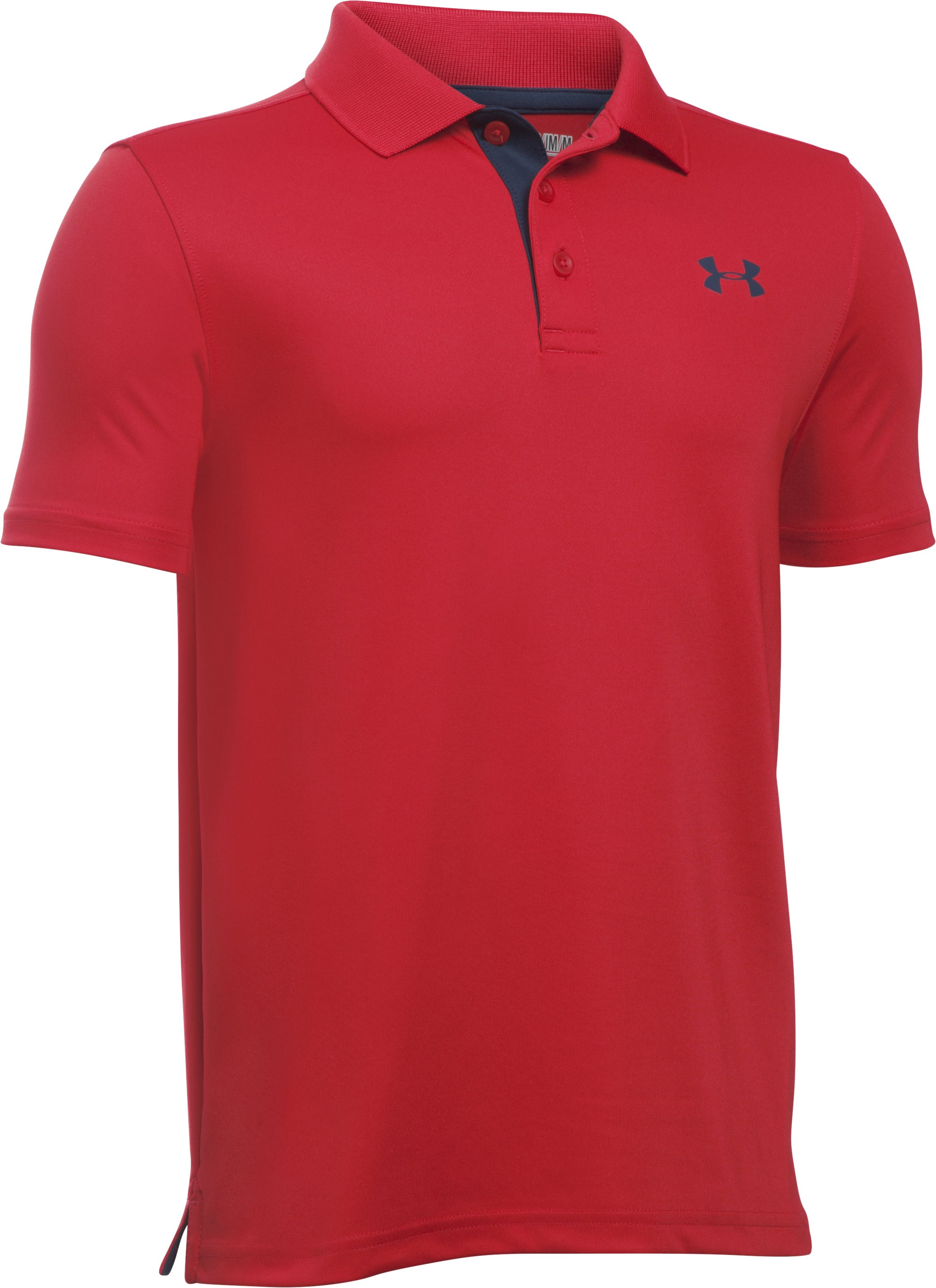 Boys' UA Performance Polo, Red, undefined