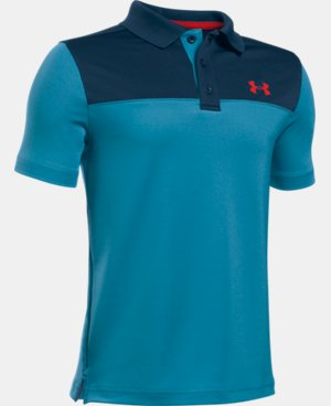 New Arrival Boys' UA Performance Blocked Polo Shirt  2 Colors $34.99