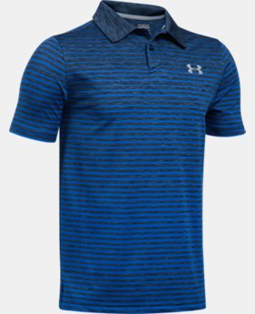 Boys' UA Trajectory Stripe Polo Shirt  1 Color $29.99