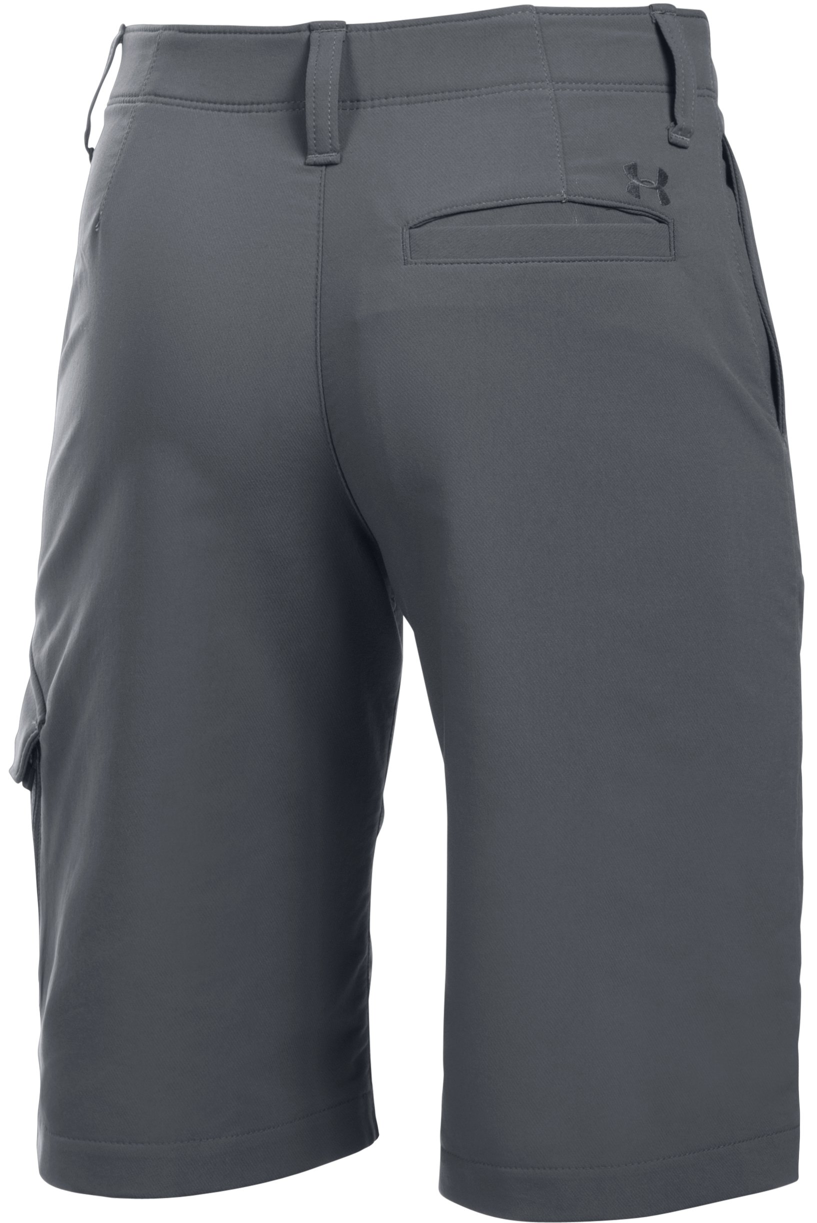 Boys' UA Match Play Cargo Shorts, RHINO GRAY,