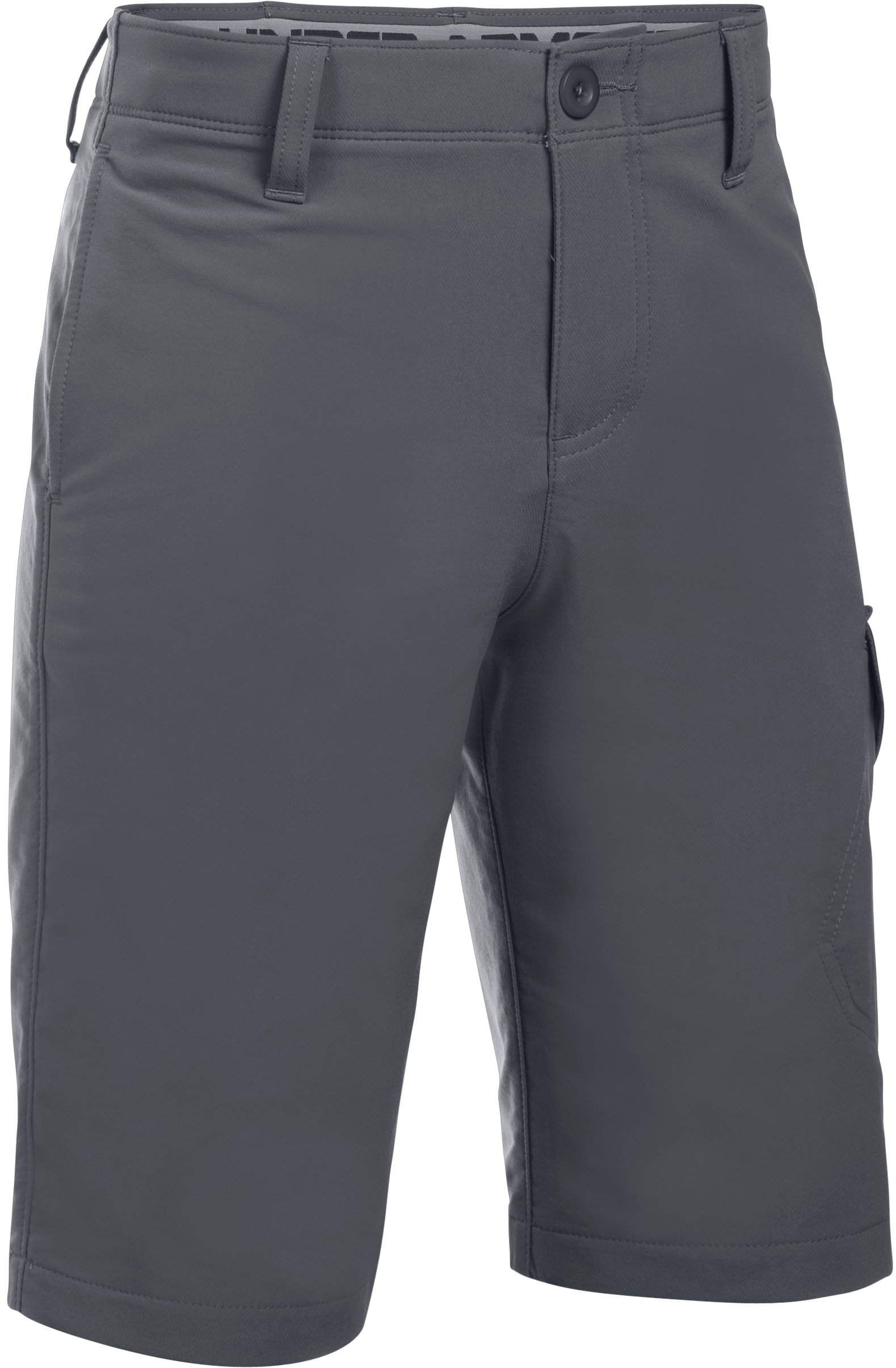 Boys' UA Match Play Cargo Shorts, RHINO GRAY