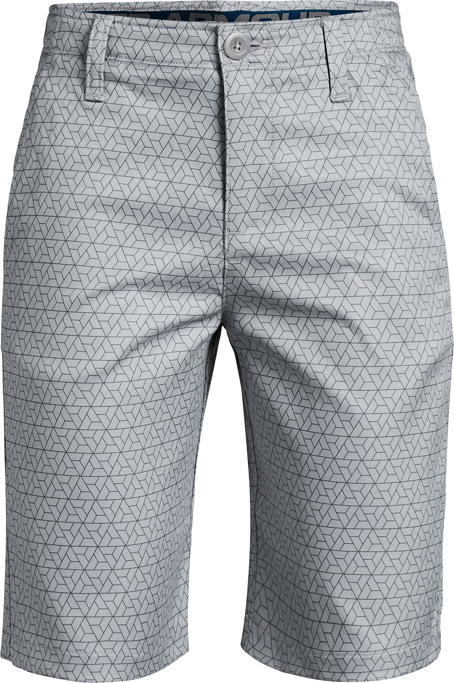 Boys' UA Match Play Printed Shorts, Steel
