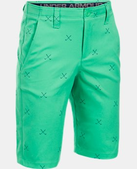 Boys' UA Match Play Printed Shorts  1 Color $29.99 to $37.49