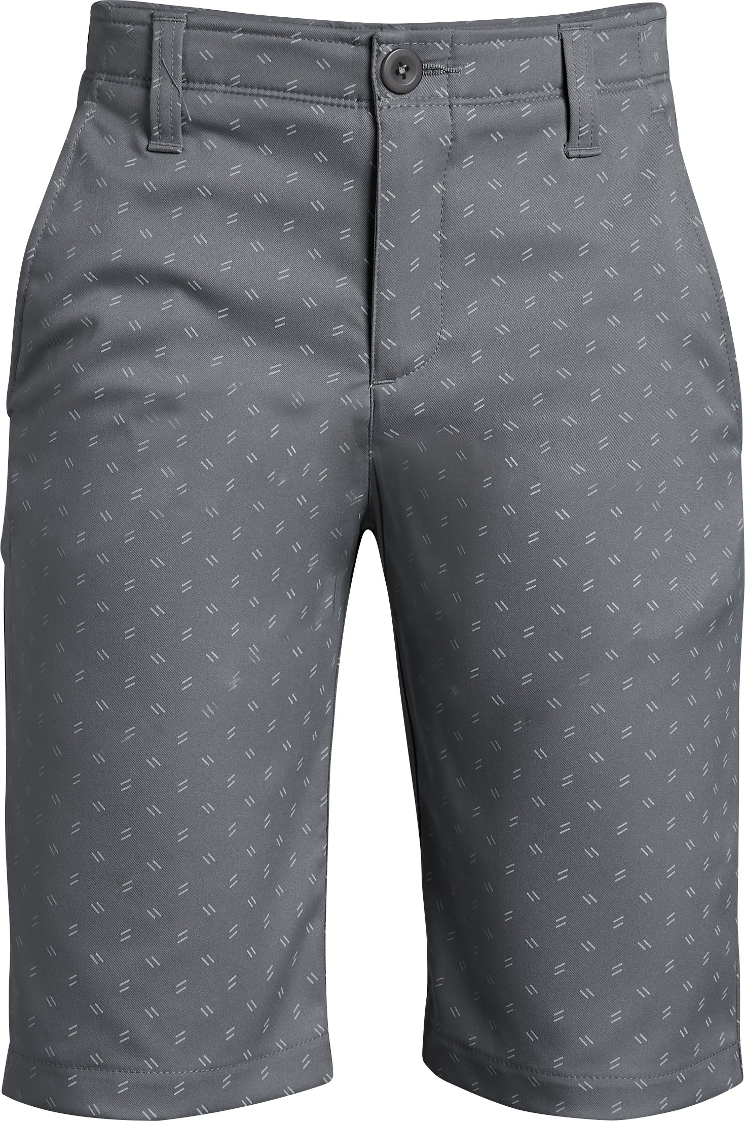Boys' UA Match Play Printed Shorts, ZINC GRAY,
