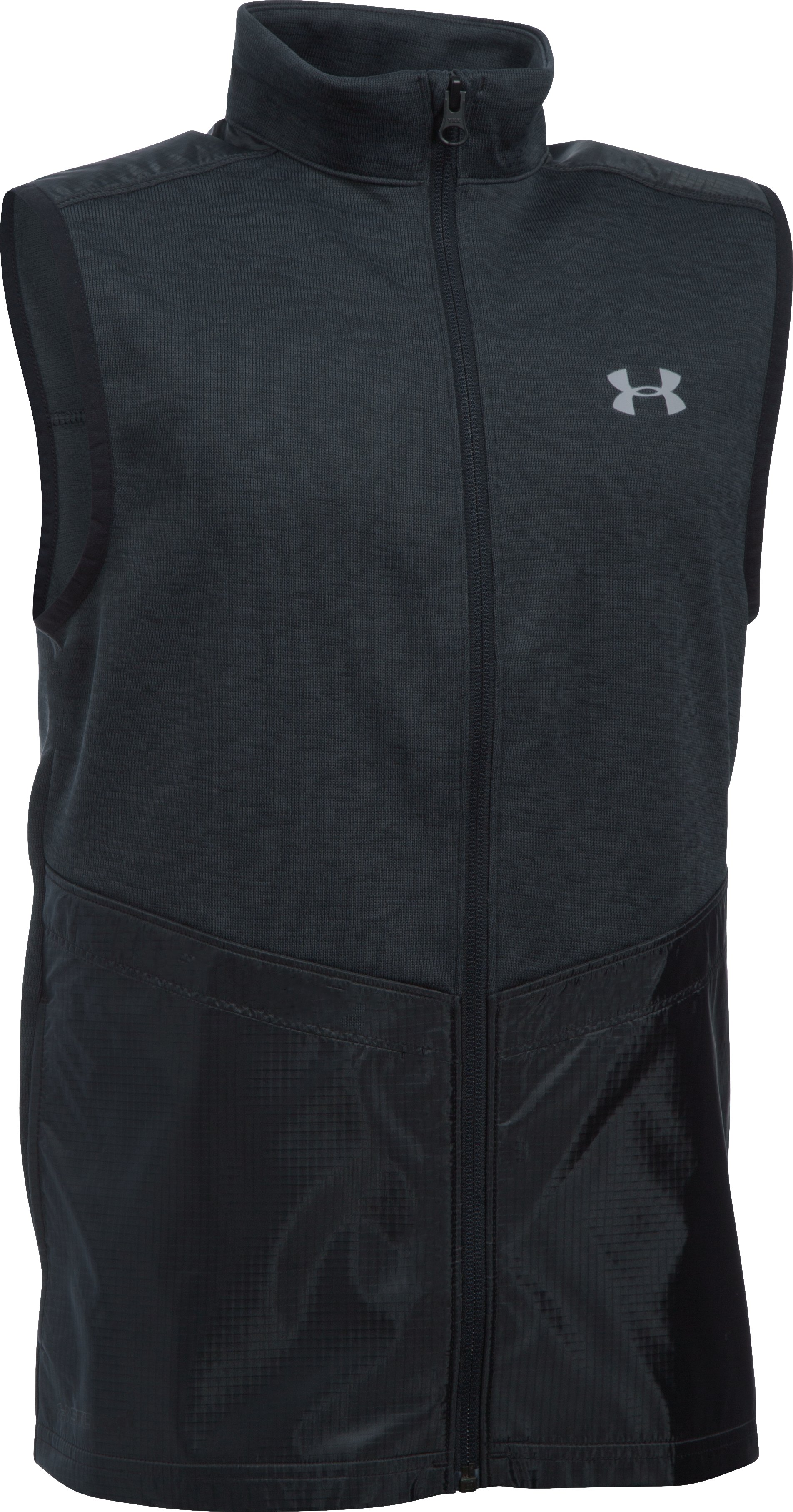Boys' UA Hybrid Vest, Asphalt Heather