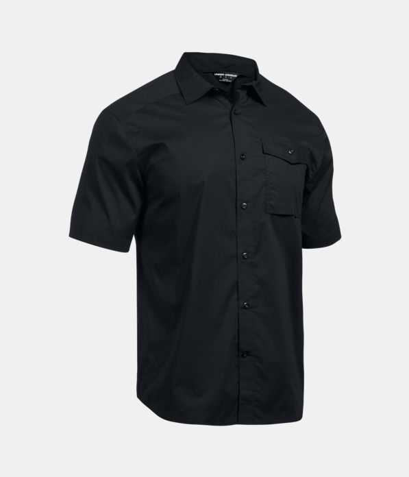 Men 39 s ua tactical button down short sleeve under armour us for Awesome button down shirts