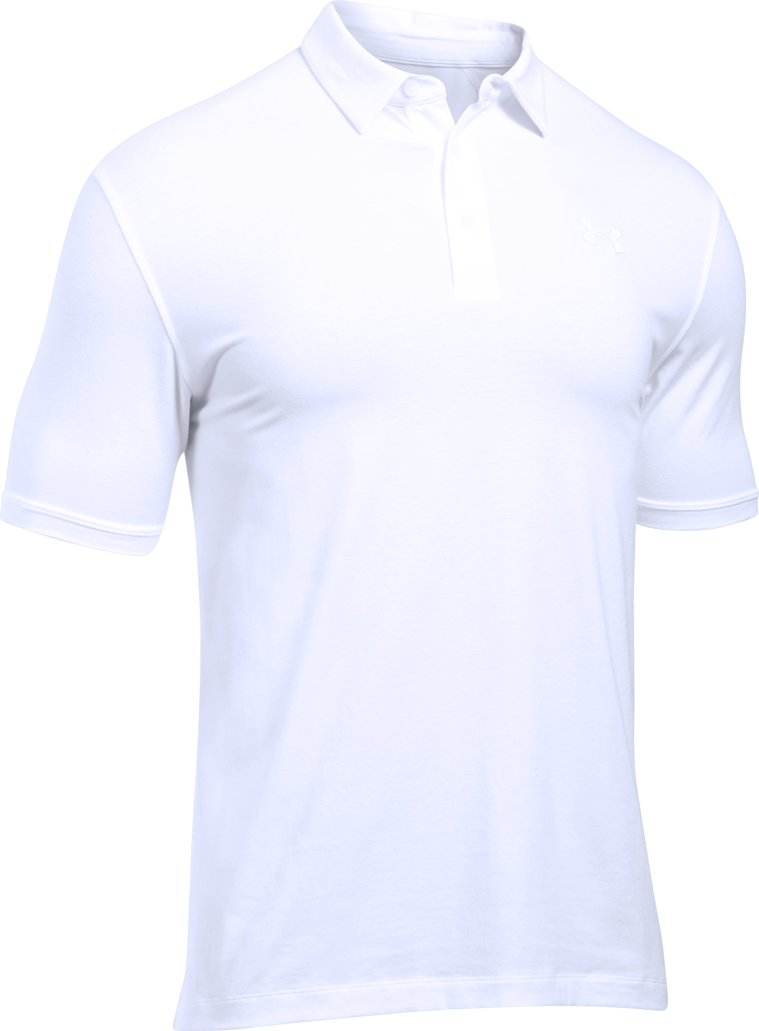 Men's UA Tactical Charged Cotton® Polo, White, undefined