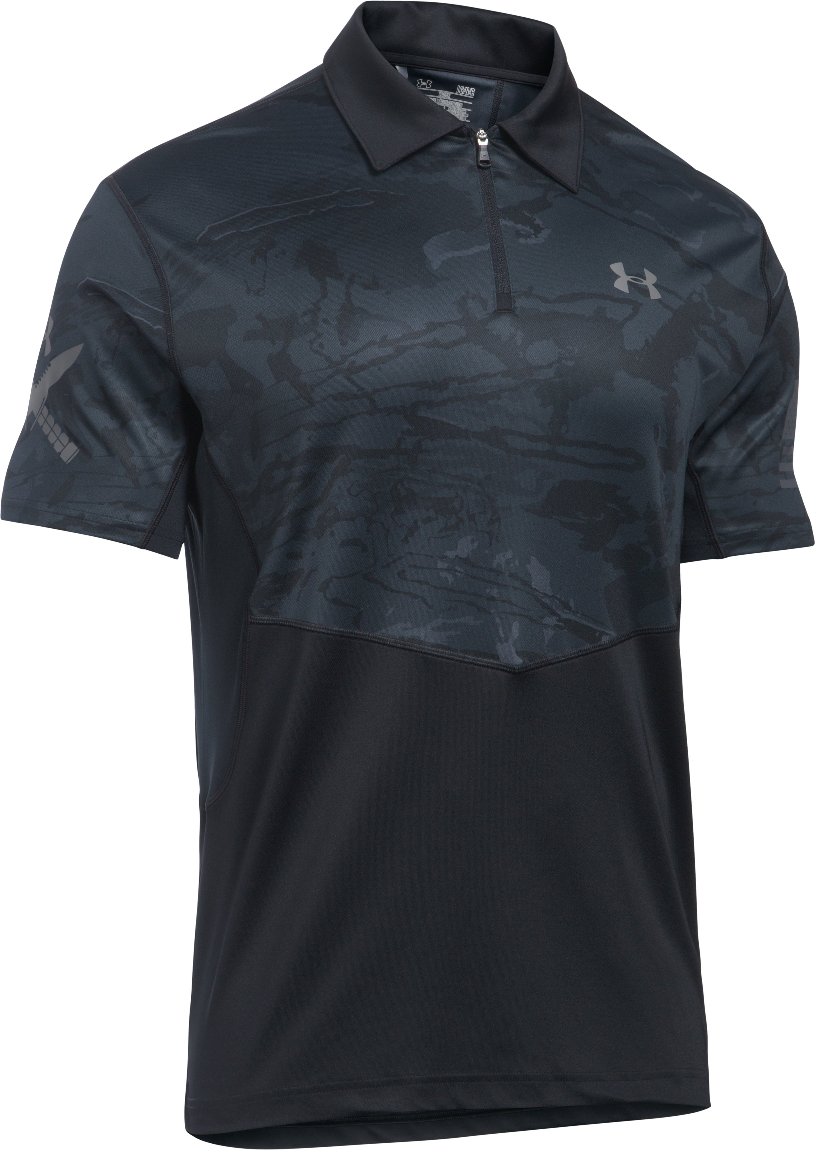 Men's UA Tactical Sub Range Polo, Black , undefined