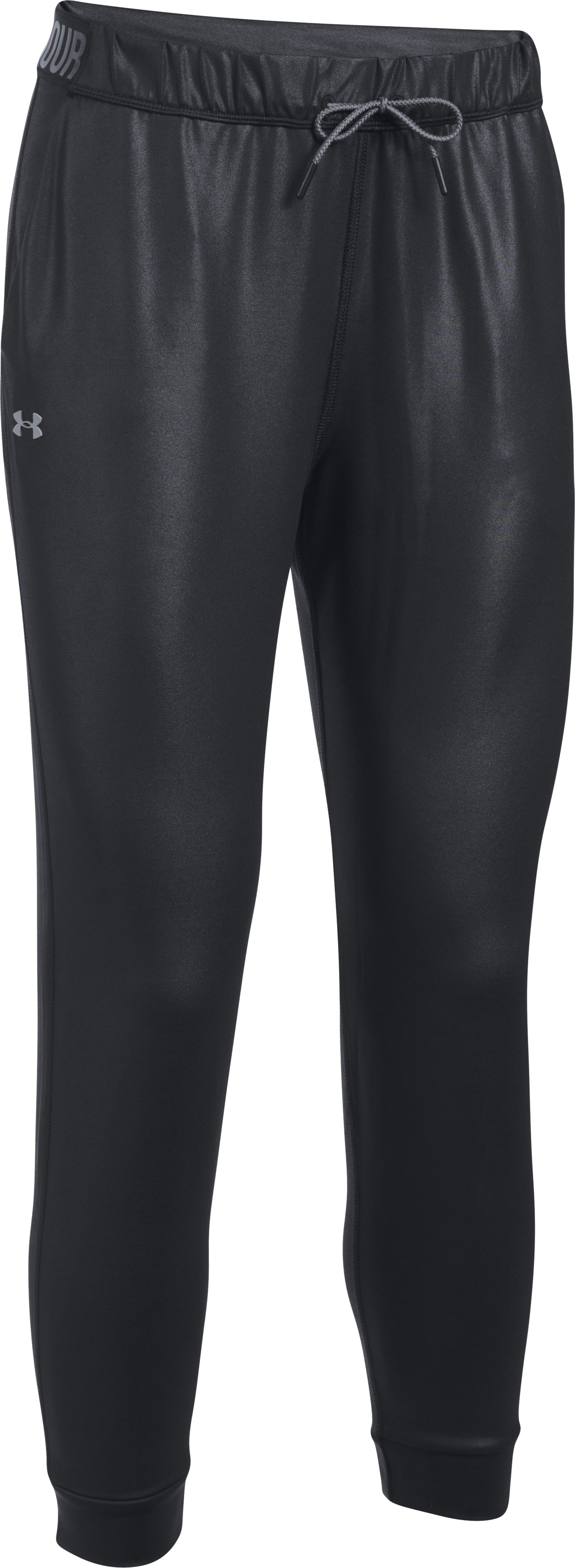 Women's UA City Hopper Shine Emboss Joggers, Black ,