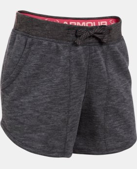 Girls' UA Shoreline Terry Shorts  1 Color $19.99