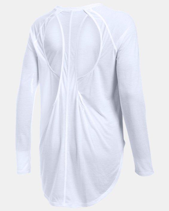 Women's UA Breathe Open Back Long Sleeve, White, pdpMainDesktop image number 4