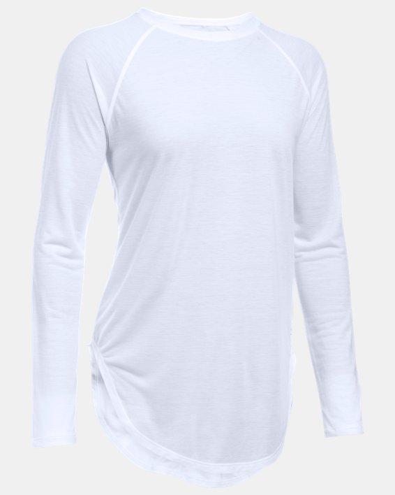 Women's UA Breathe Open Back Long Sleeve, White, pdpMainDesktop image number 3
