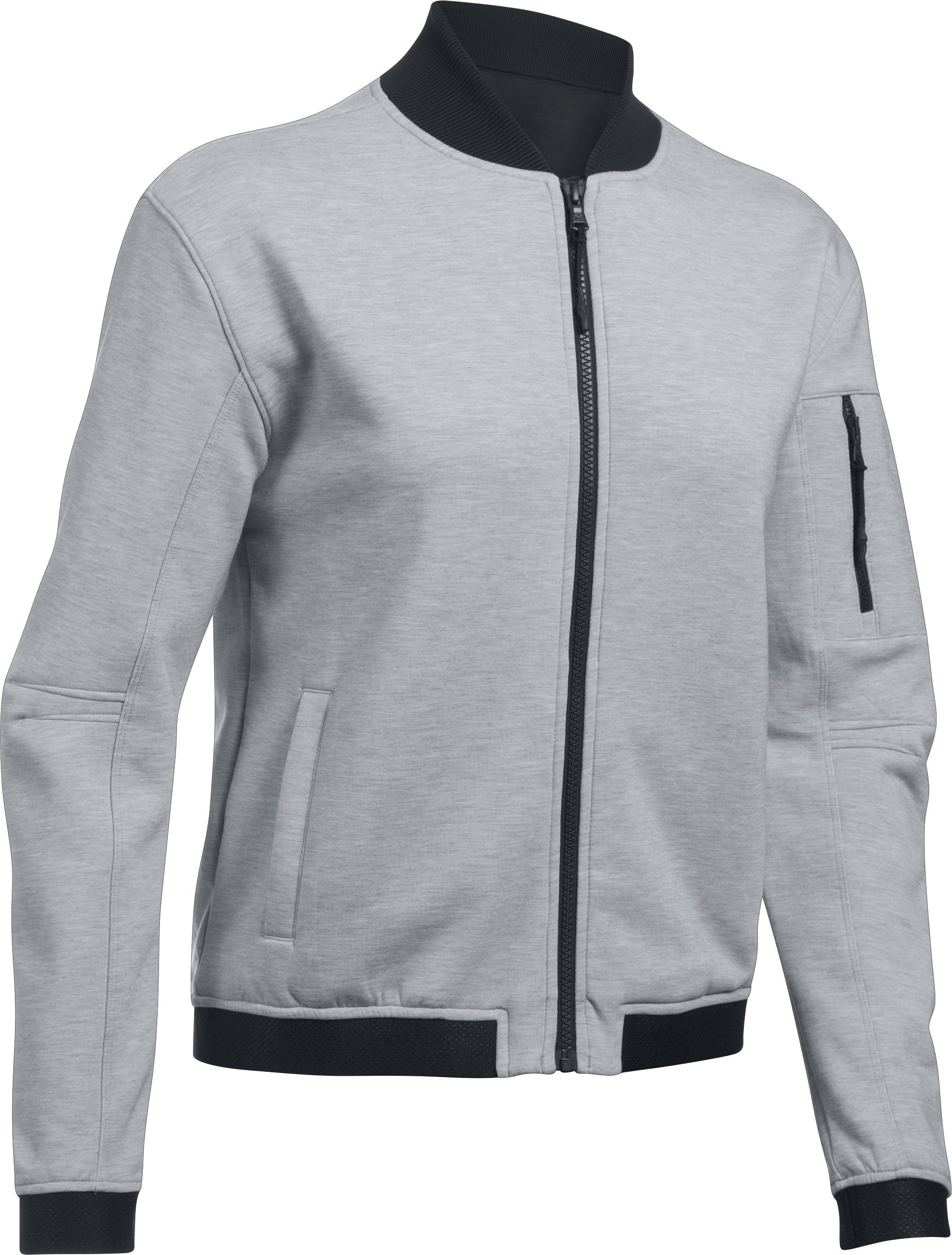 Women's UA Luster Bomber, True Gray Heather, undefined