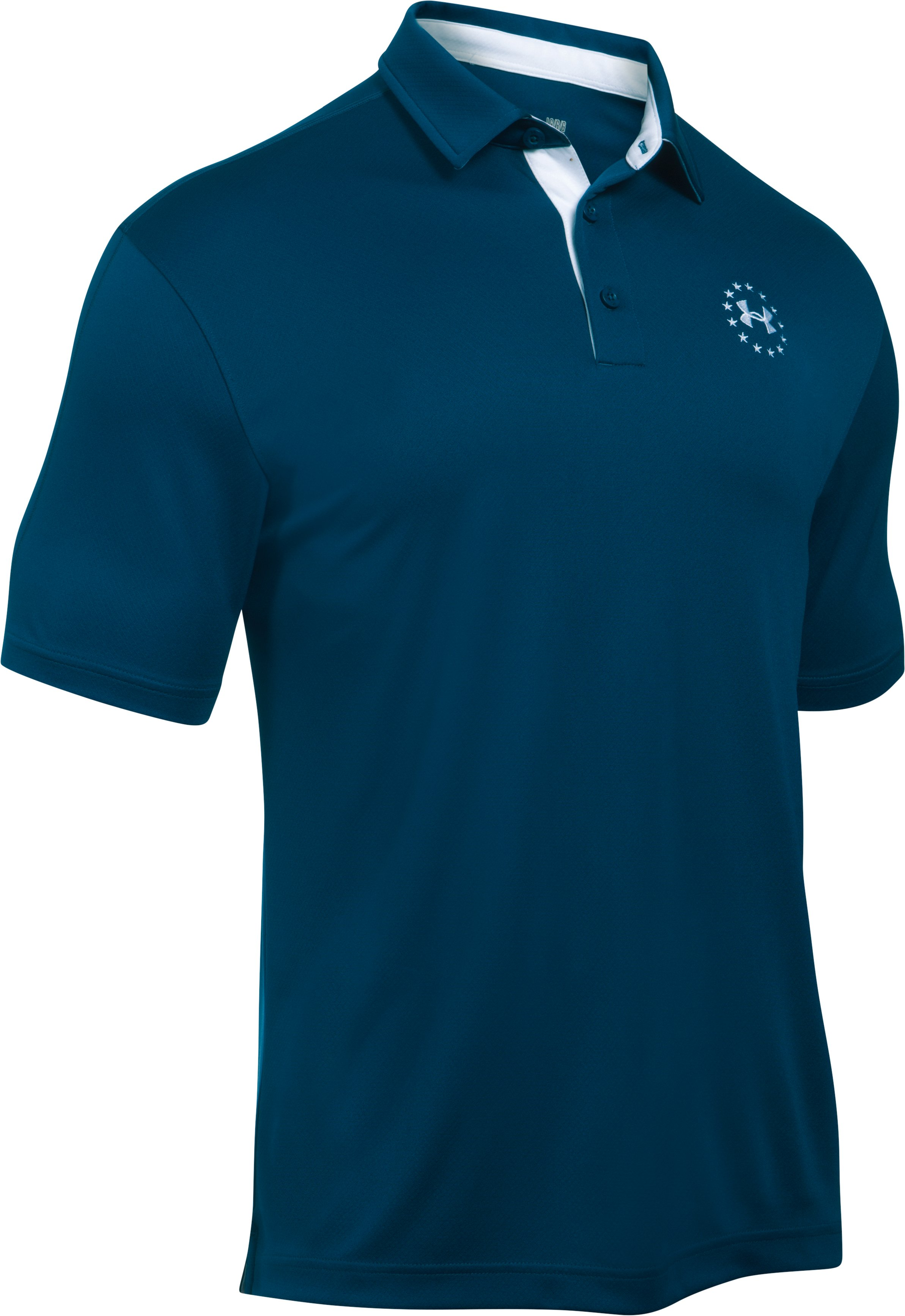 Men's UA Freedom Polo, BLACKOUT NAVY,
