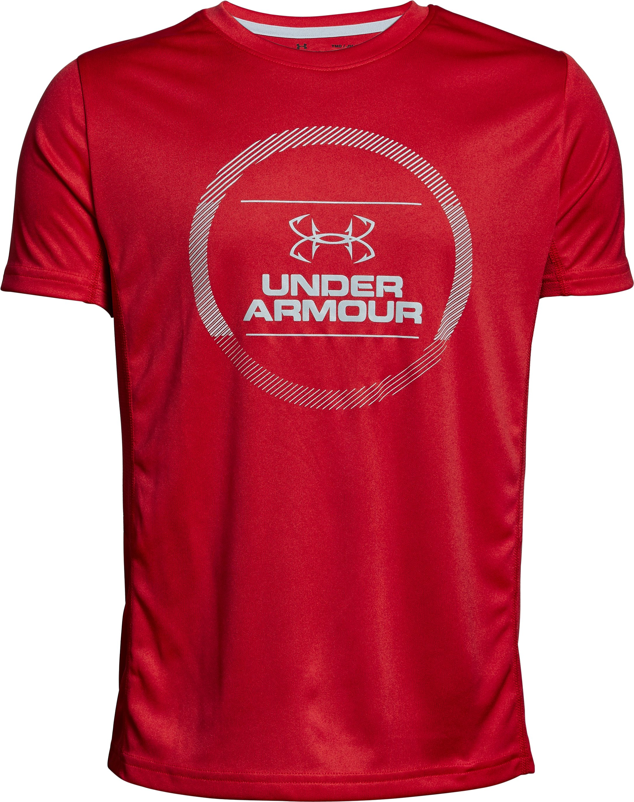 Boys' UA Tech™ Short Sleeve, Red, undefined