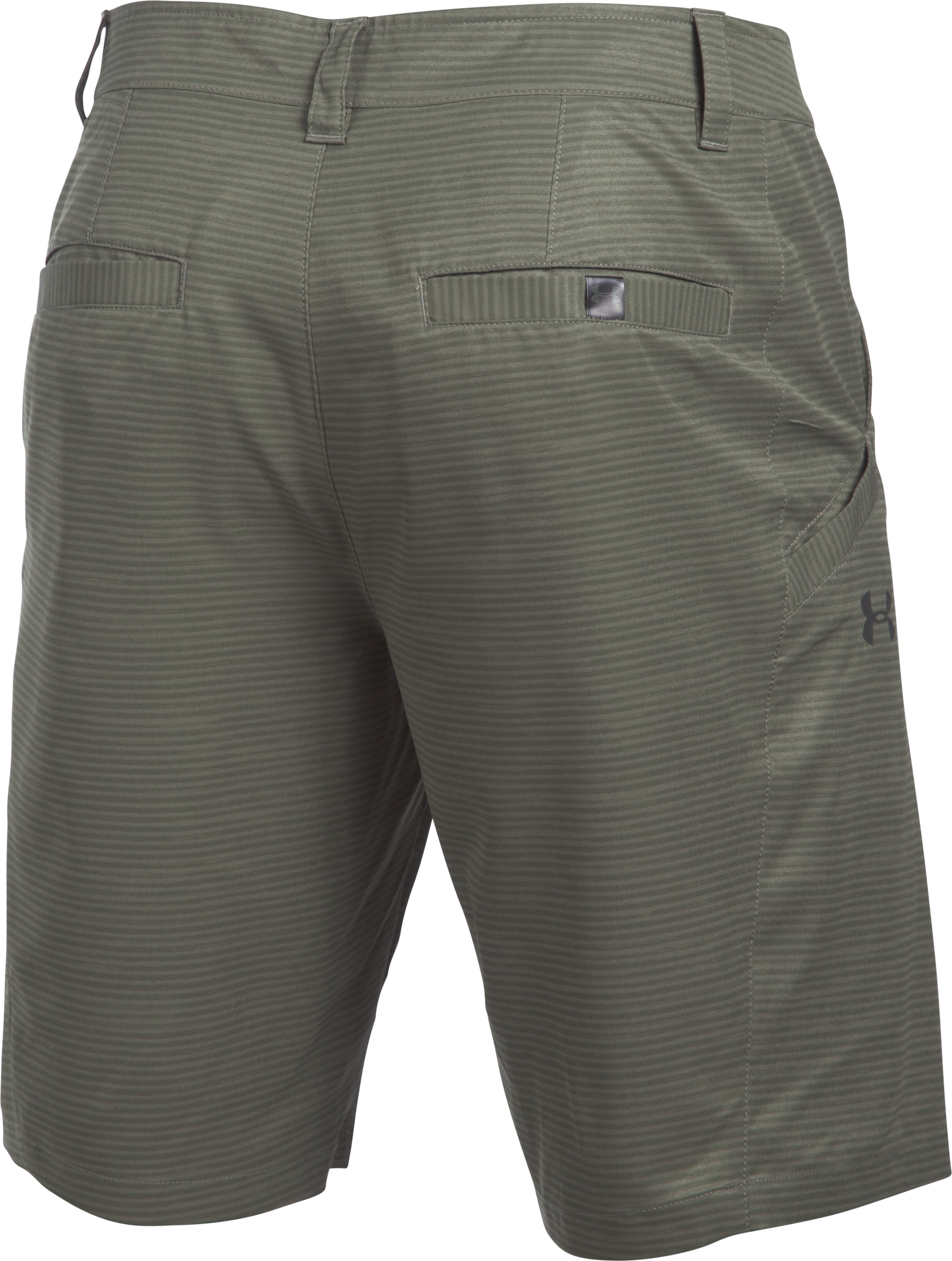 Men's UA Surf & Turf Stretch Amphibious Boardshorts, Foliage Green,