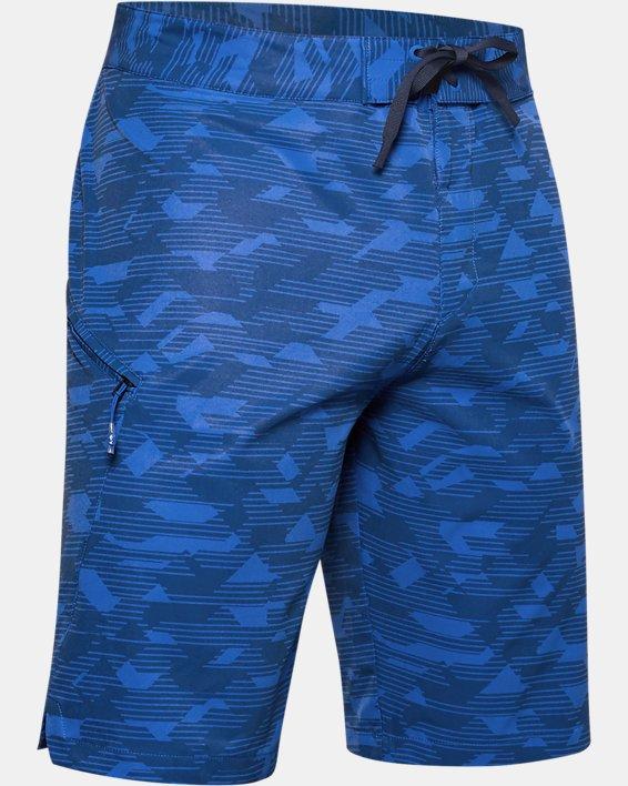 Men's UA Stretch Printed Boardshorts, Blue, pdpMainDesktop image number 3