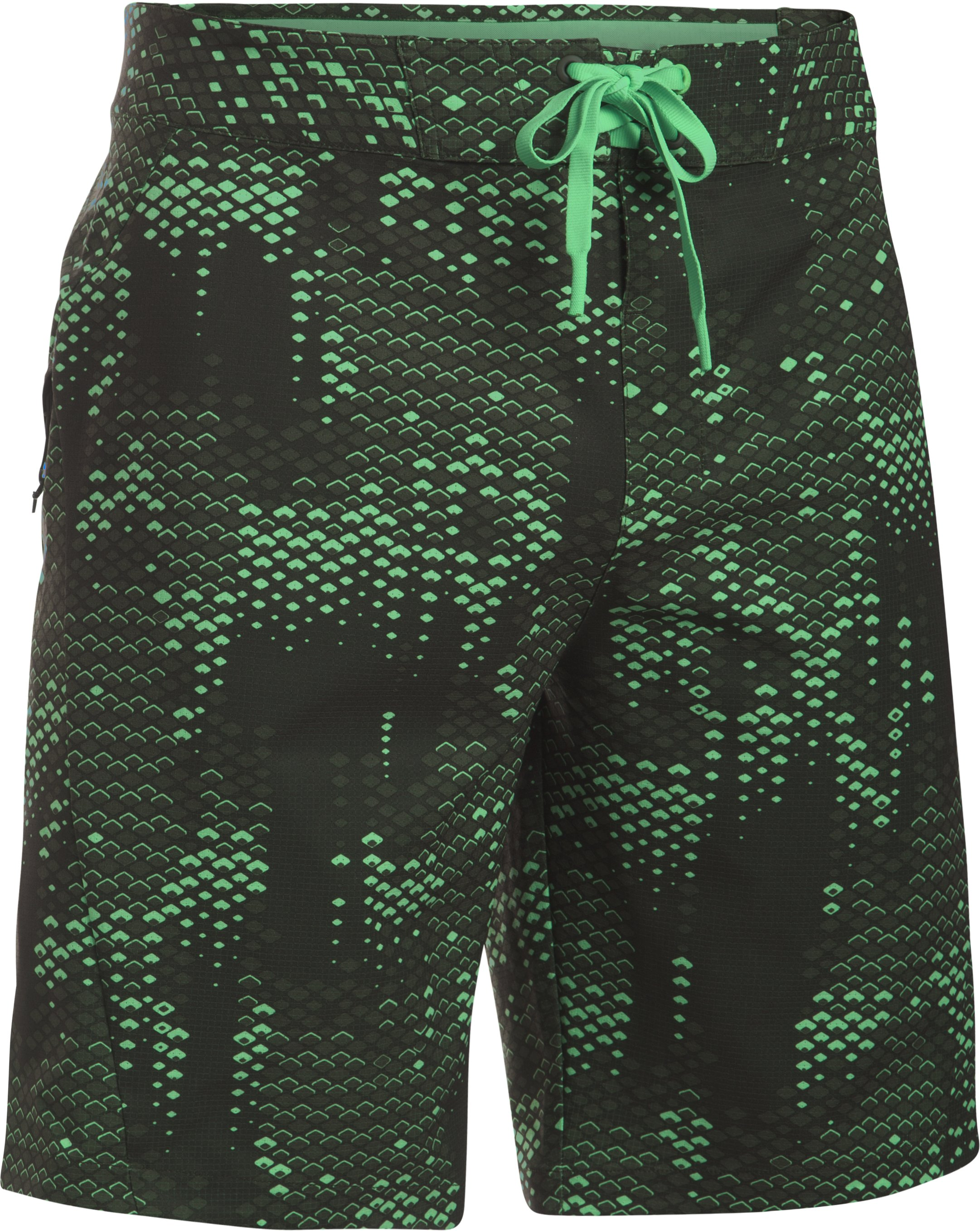 Men's UA ArmourVent™ Boardshorts, VAPOR GREEN,