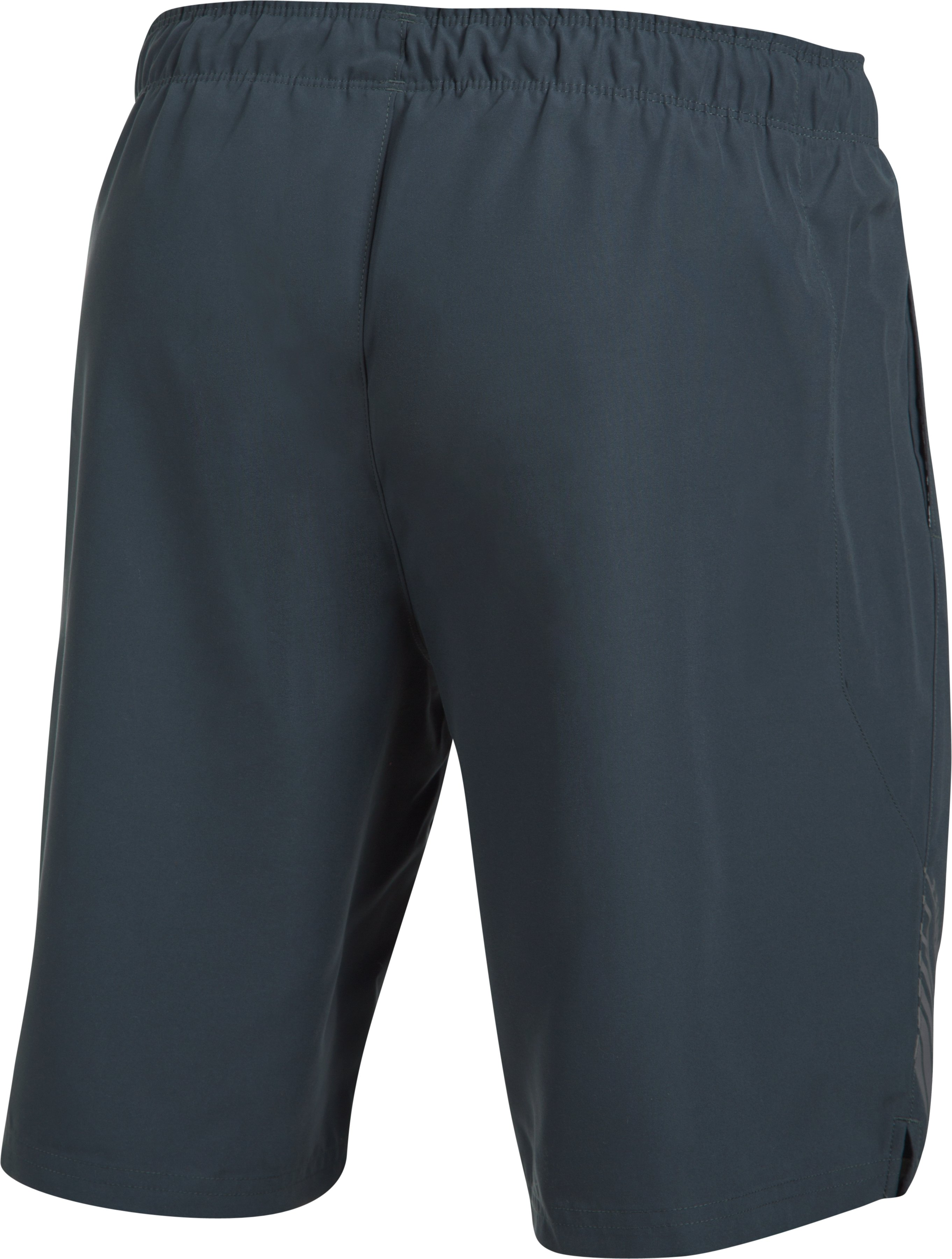 Men's UA Volley Boardshorts, STEALTH GRAY,