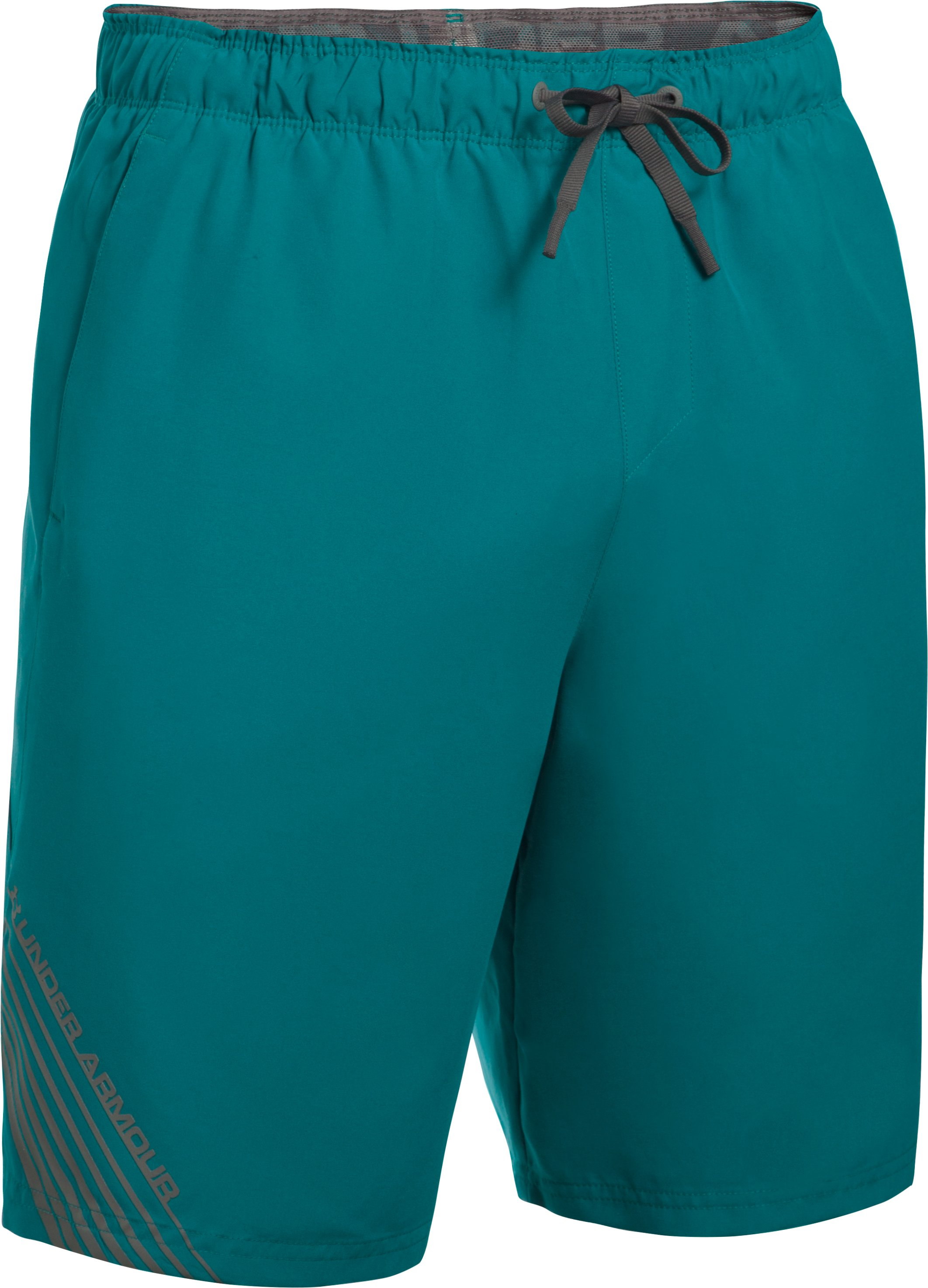 Men's UA Volley Boardshorts, TURQUOISE SKY