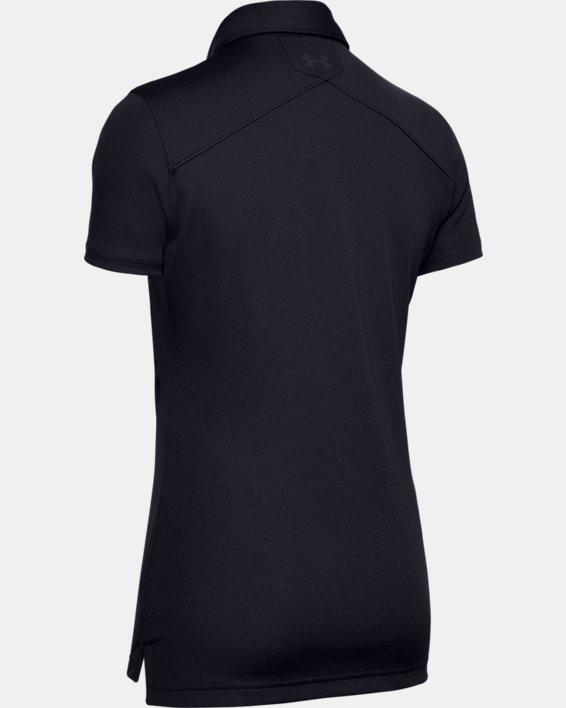Women's UA Performance Range Tactical Polo, Black, pdpMainDesktop image number 7