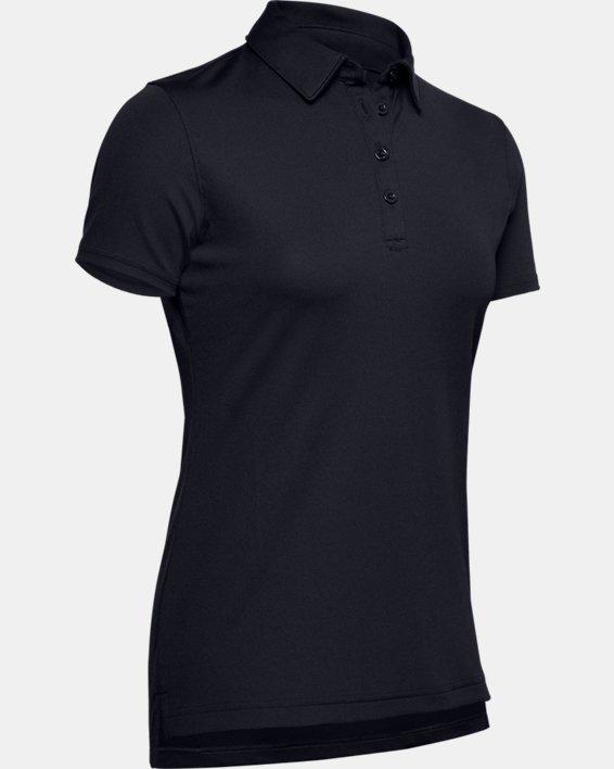 Women's UA Performance Range Tactical Polo, Black, pdpMainDesktop image number 6