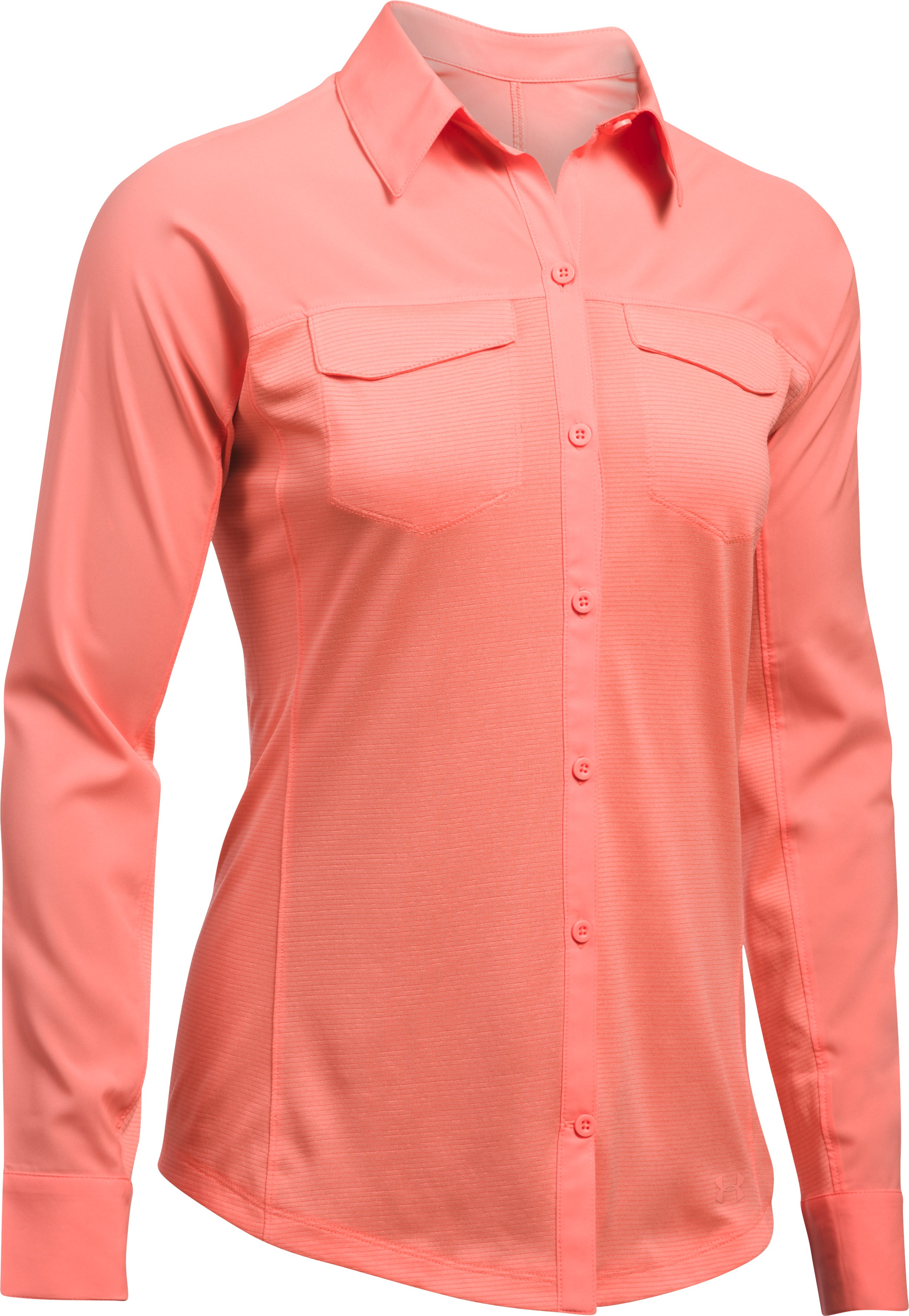 Women's UA Tide Chaser Hybrid Long Sleeve, LONDON ORANGE,